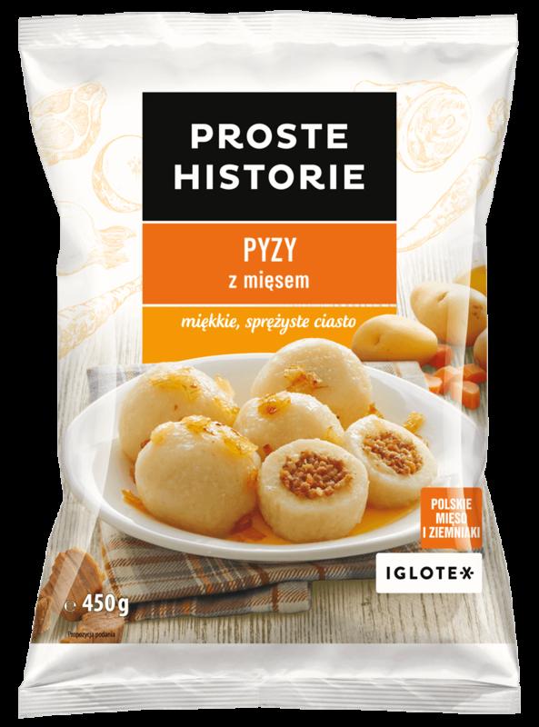 Pyzy lihatäytteellä Proste Historie 450g, pakaste