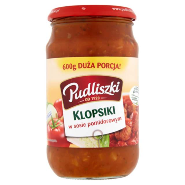 Lihapullat tomaattikastikkeessa - Klopsiki w sosie pomidorowym Pudliszki 600g