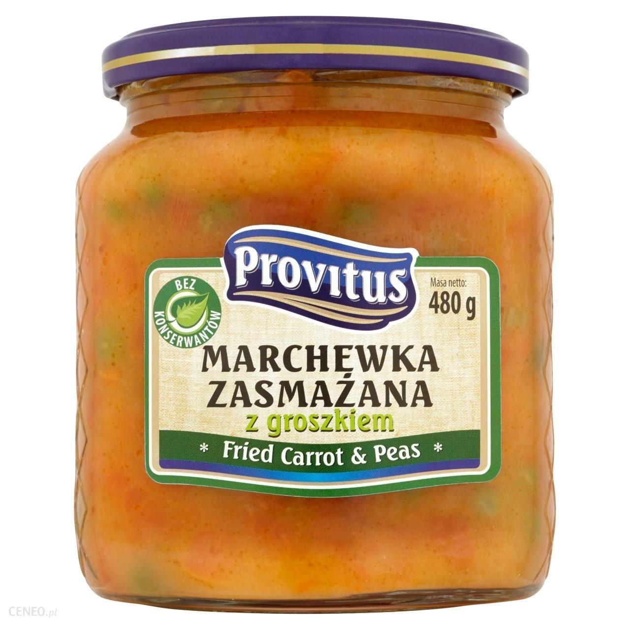 Paistettua porkkanaa ja herneitä - Marchewka zasmazana z groszkiem Provitus 480g