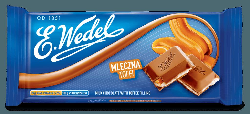 E. Wedel Toffee maitosuklaa 100g