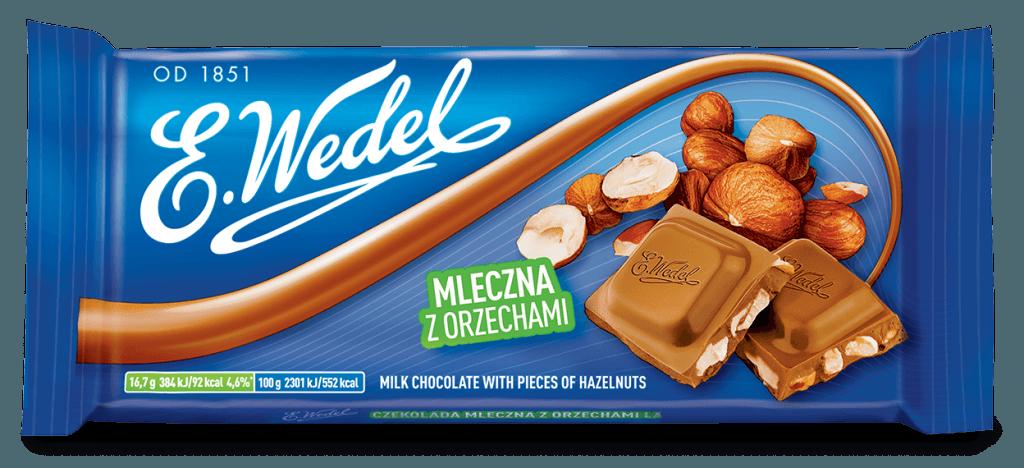 E. Wedel  Hasselpähkinämaitosuklaa 100g
