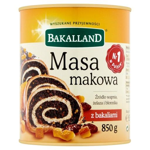 Unikonsiemenmassa - Masa makowa Bakalland 850g