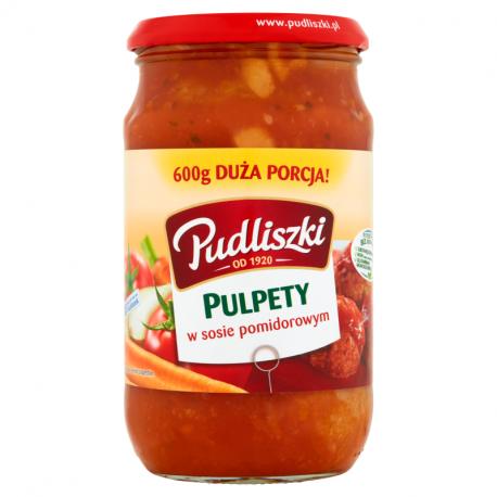 Lihapullat tomaattikastikkeessa - Pulpety w sosie pomidorowym Pudliszki 600g