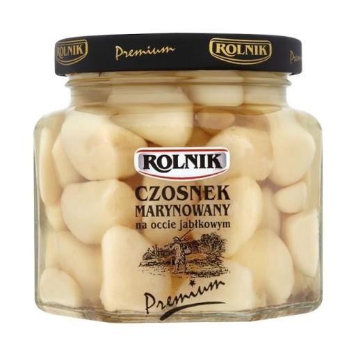 Omenaviinietikassa marinoidut valkosipulinkynnet - Czosnek marynowany Rolnik Premium 200 g