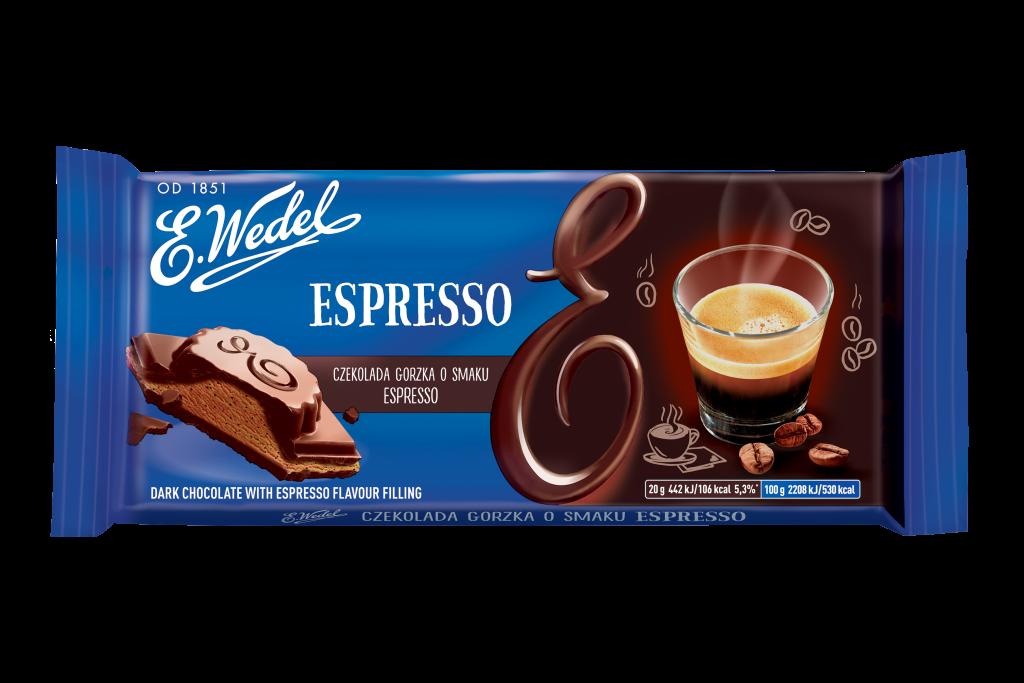 E. Wedel Espresso tummasuklaa 100g