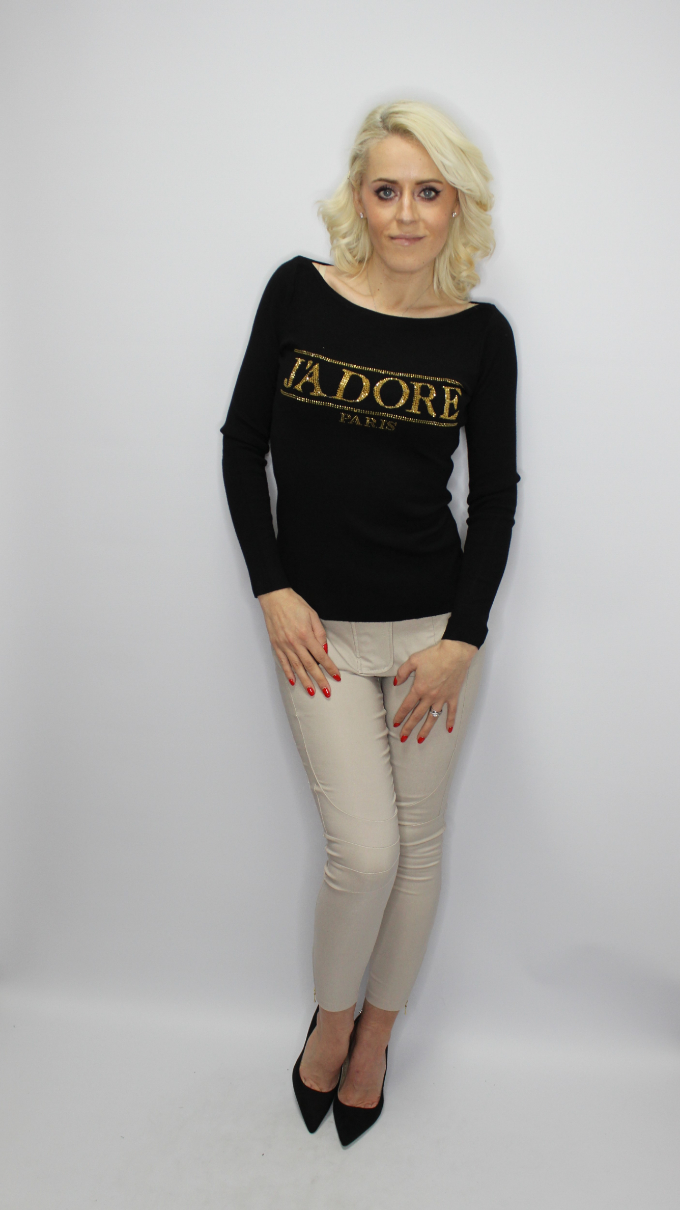Black J'adore Jumper