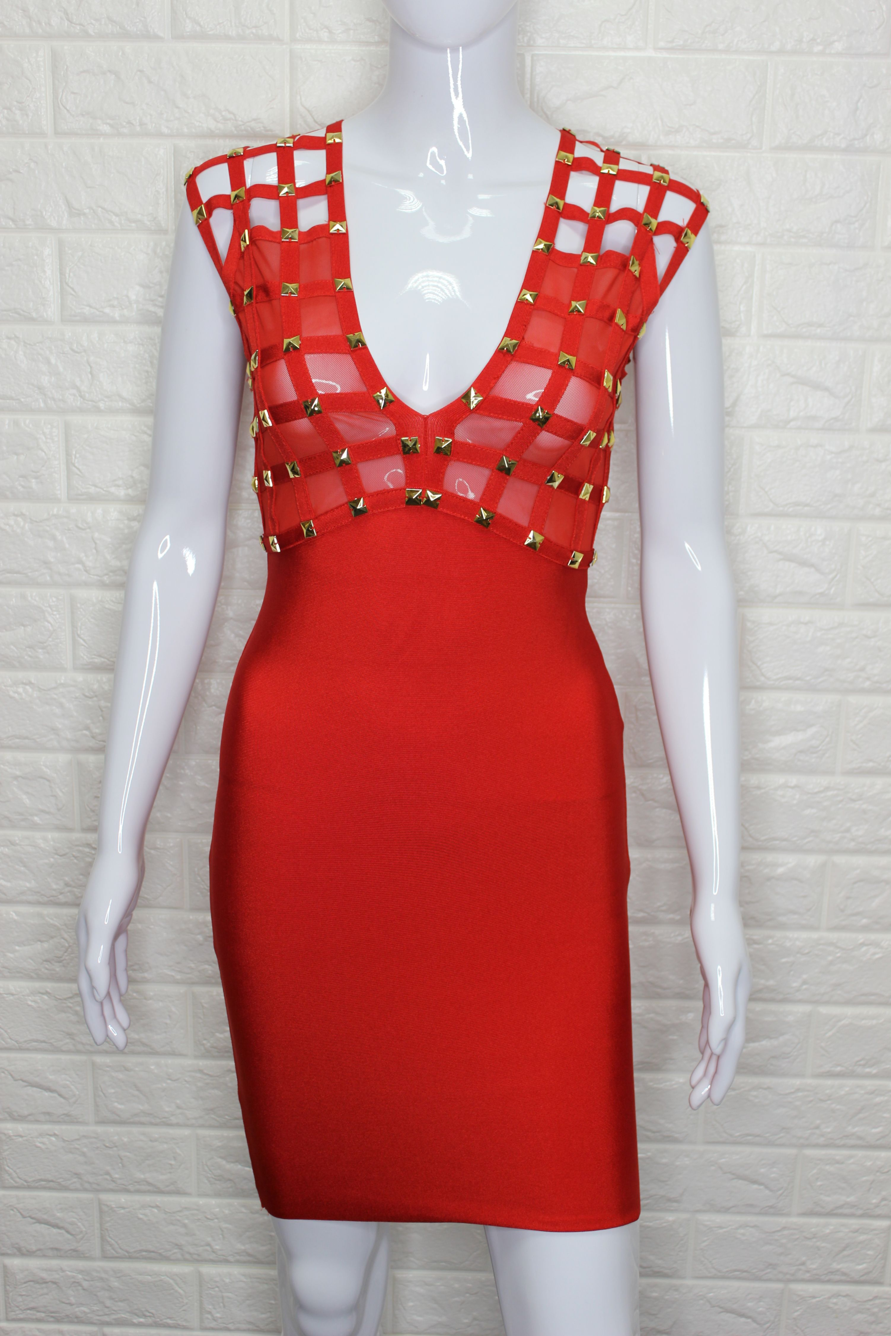 Red Bandage Mini Dress