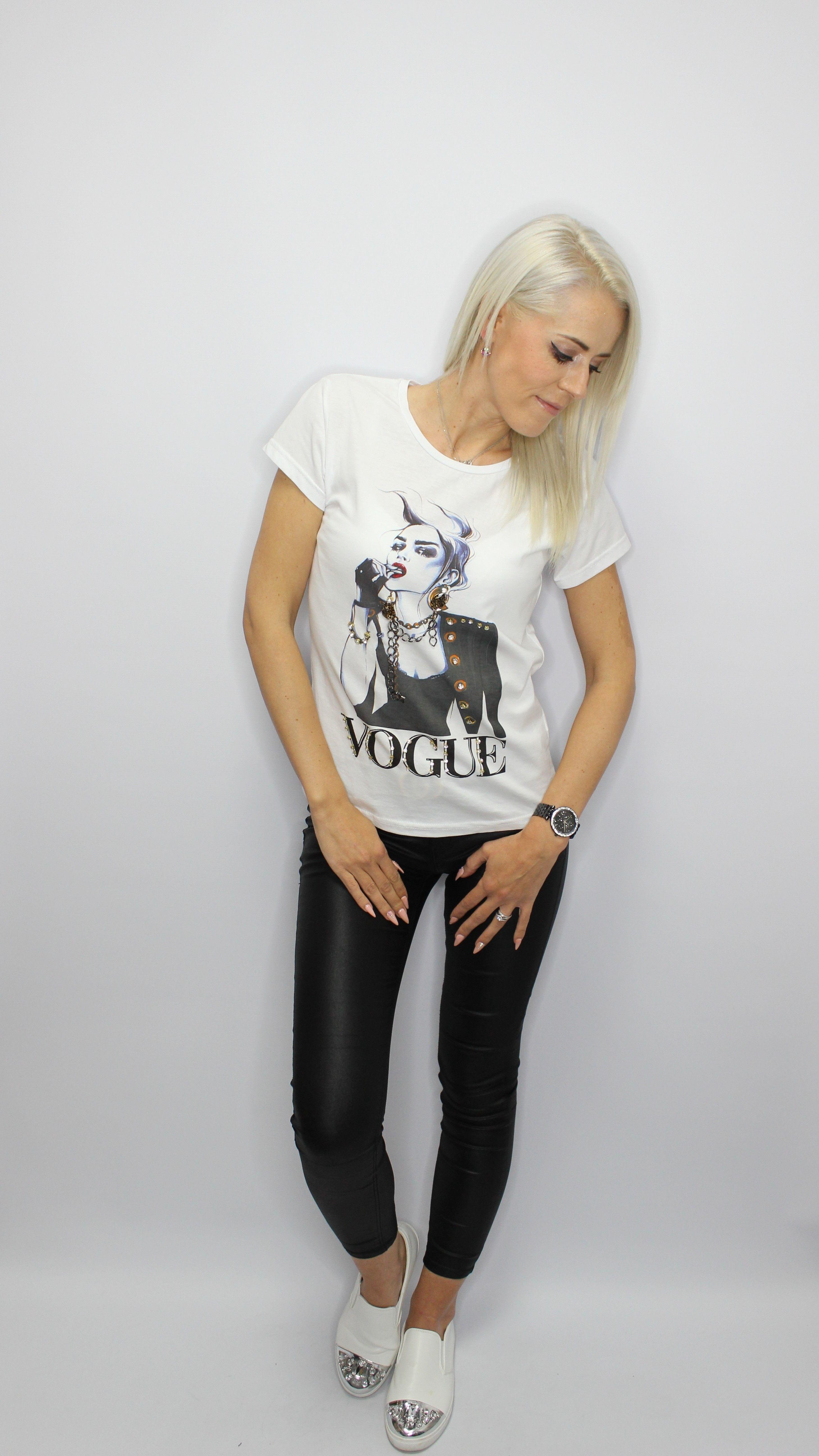 White Vogue T-Shirt