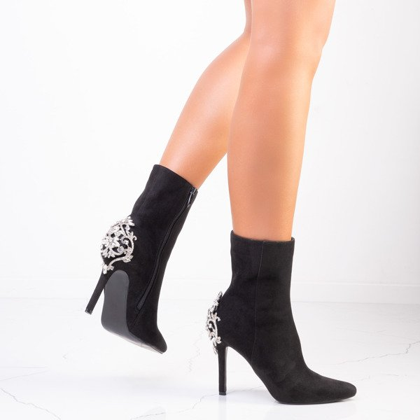 Luxurious Black Ankle Boots
