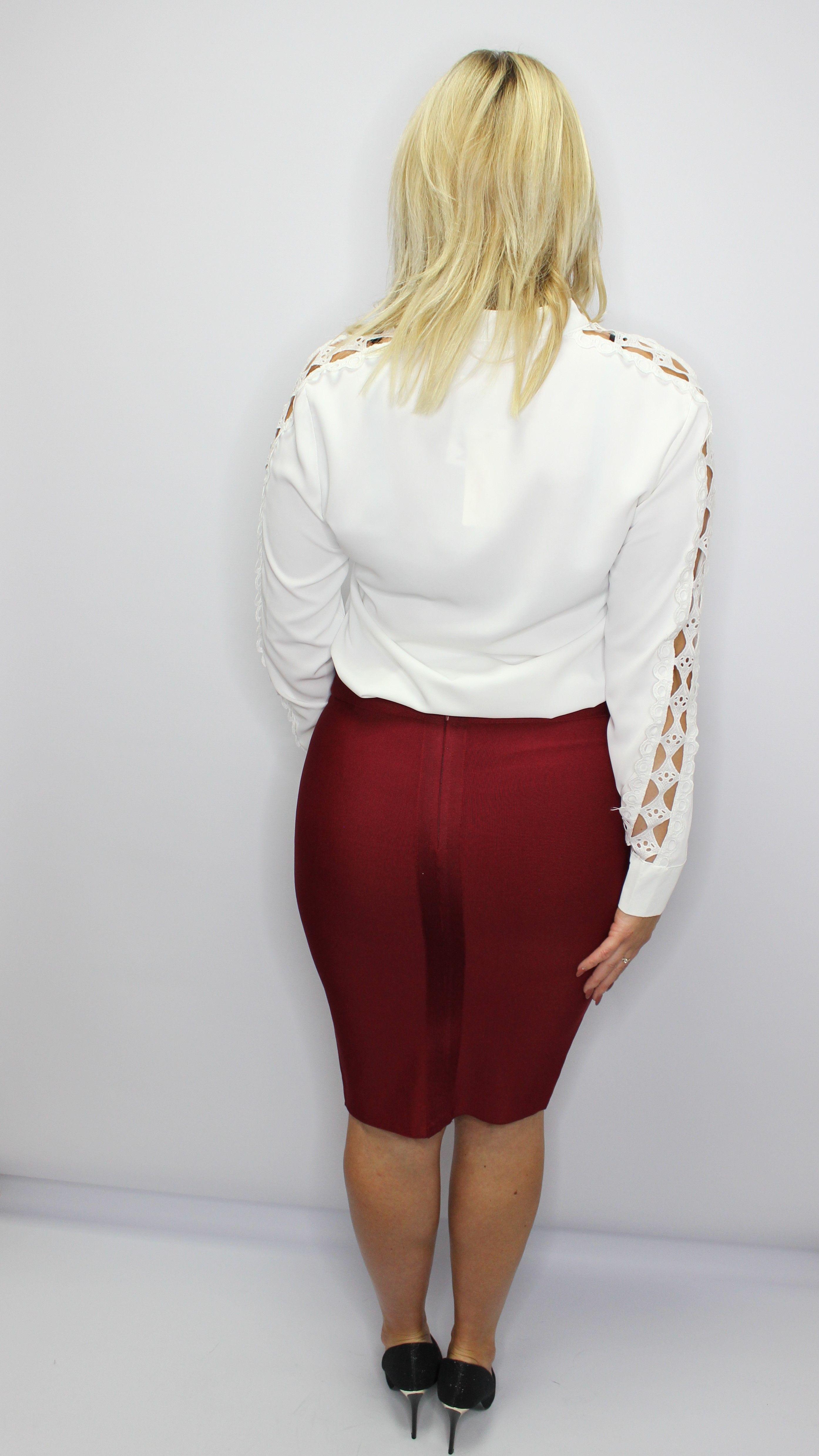 Burgundy Bandage Skirt