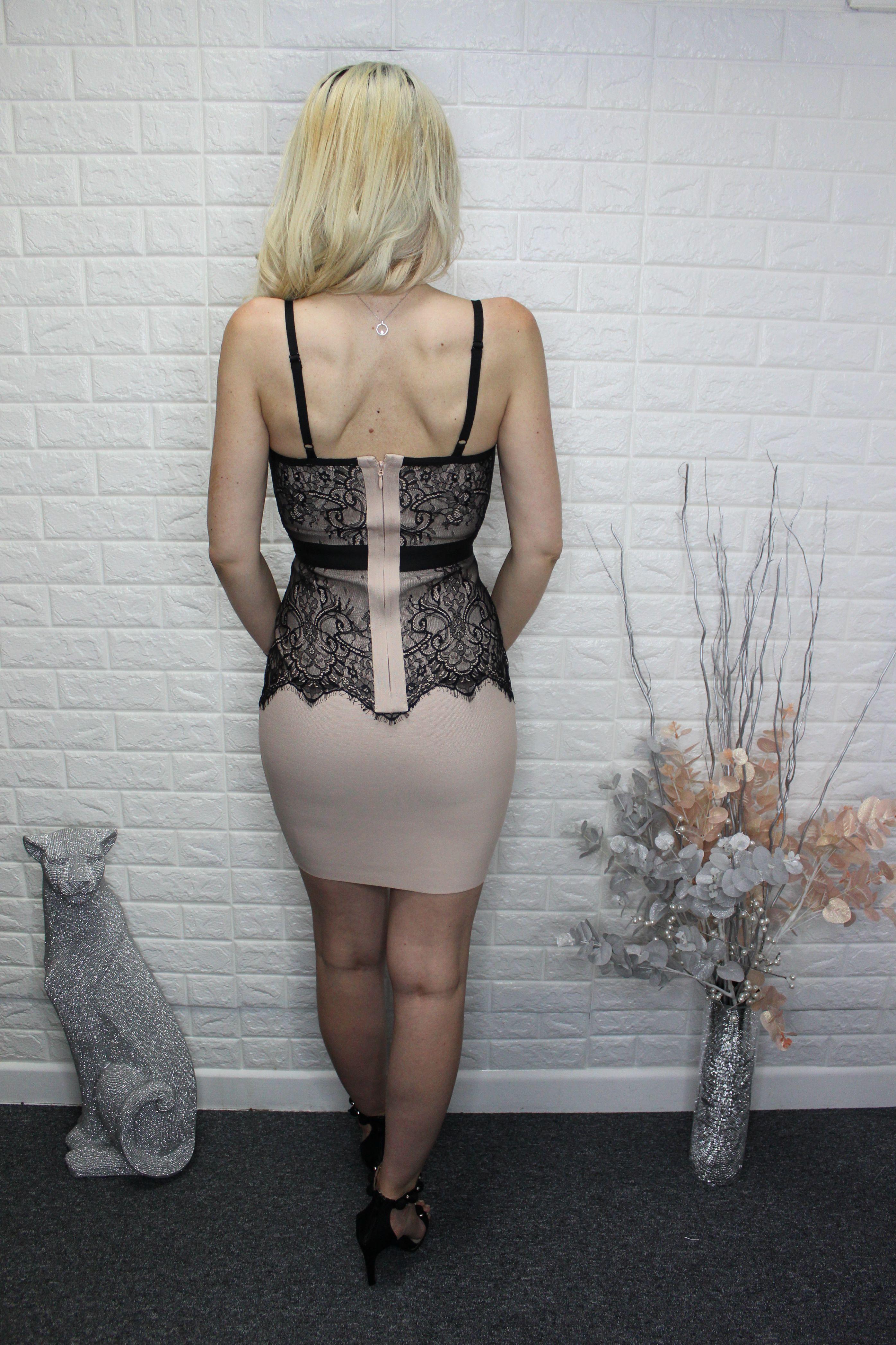 Luxurious Nude Bandage Dress