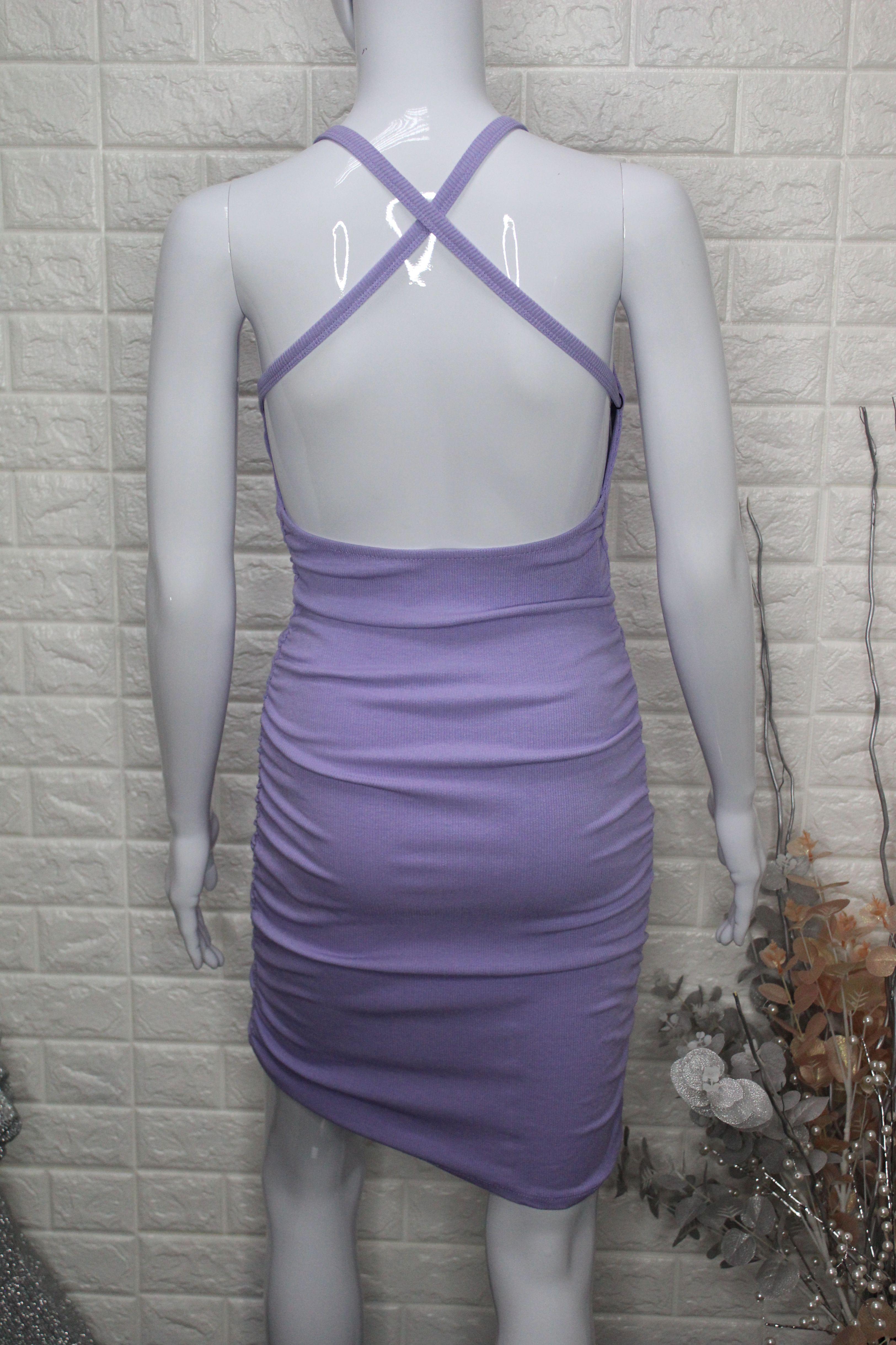 Lilac Casual Mini Dress