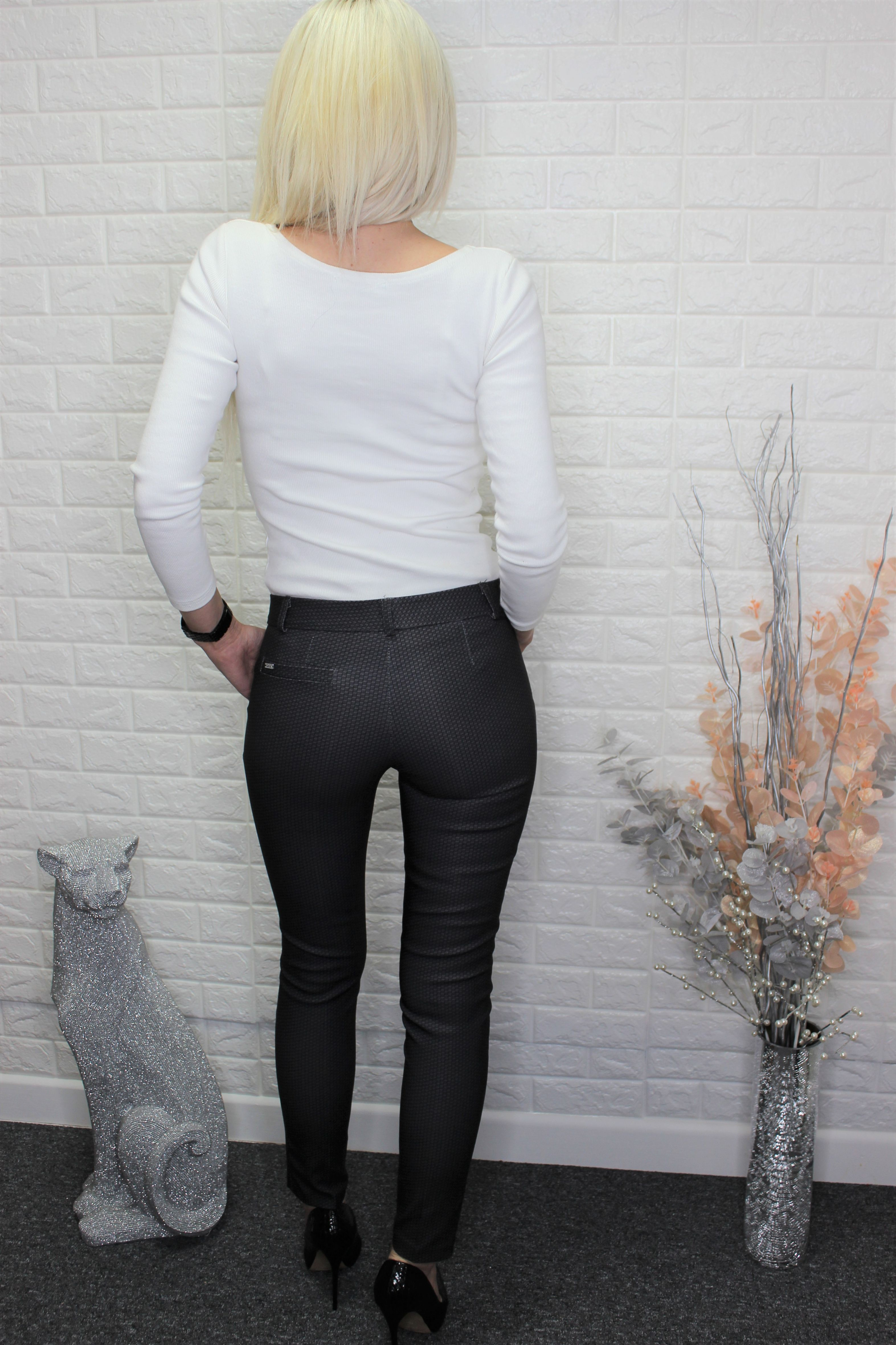 Charcoal Patterned Trousers