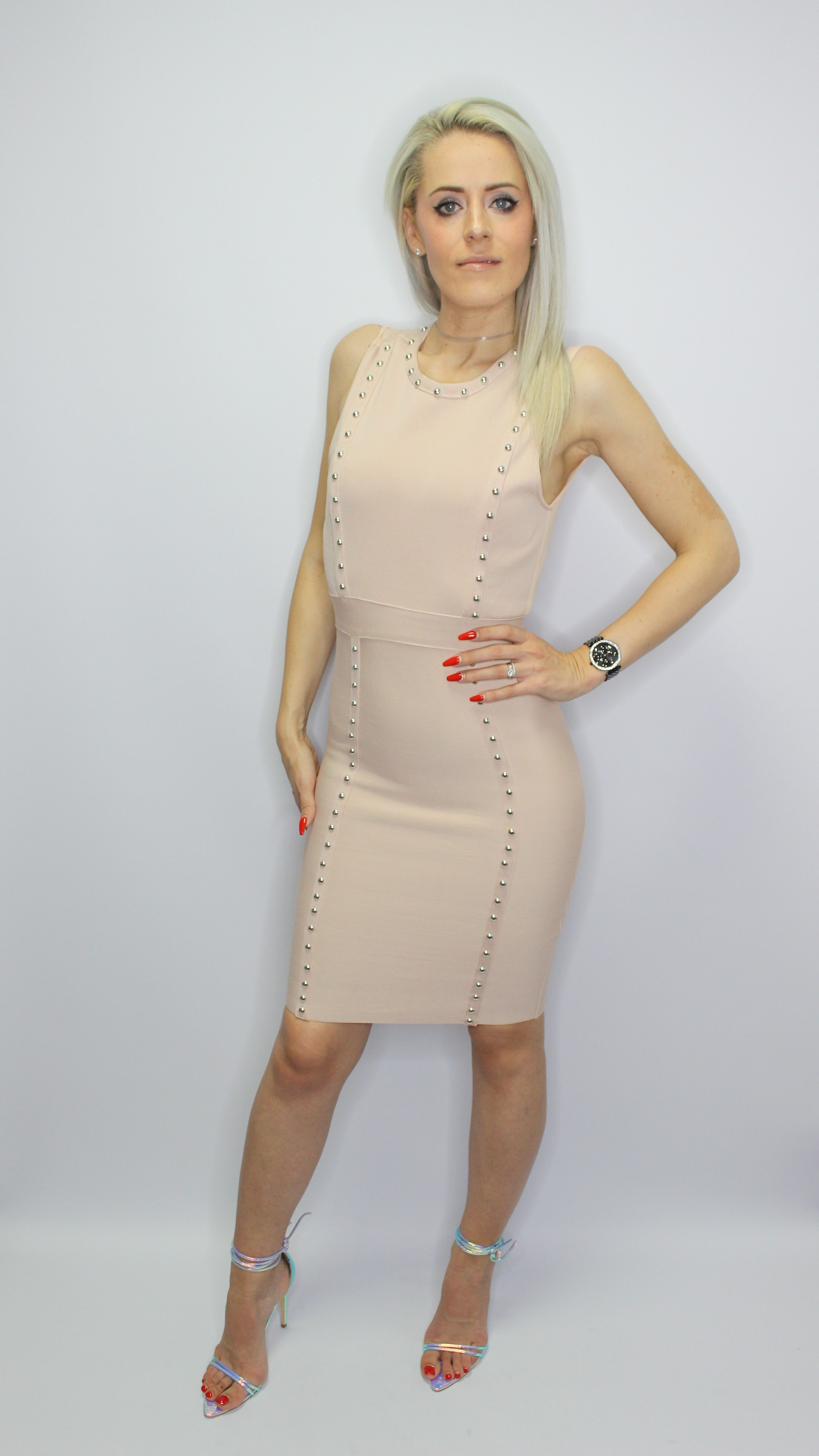 Beige Bandage Dress