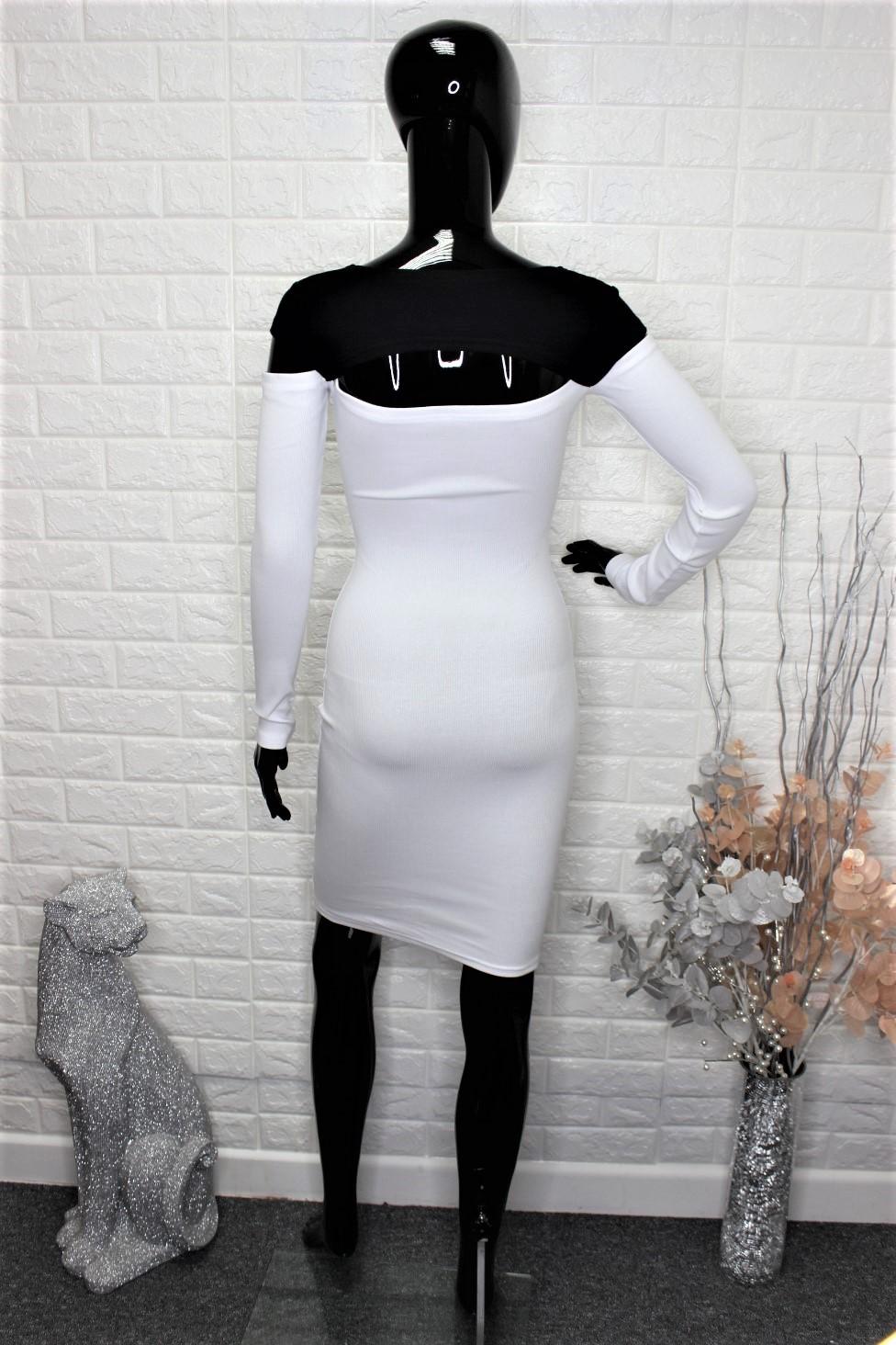 White & Black Casual Dress