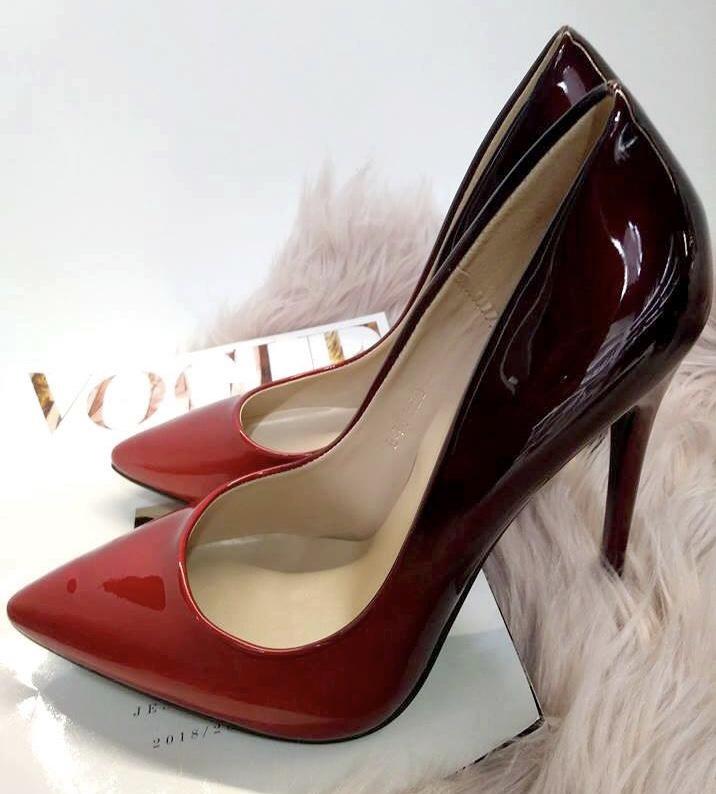 Red Ombre Design Stilettos