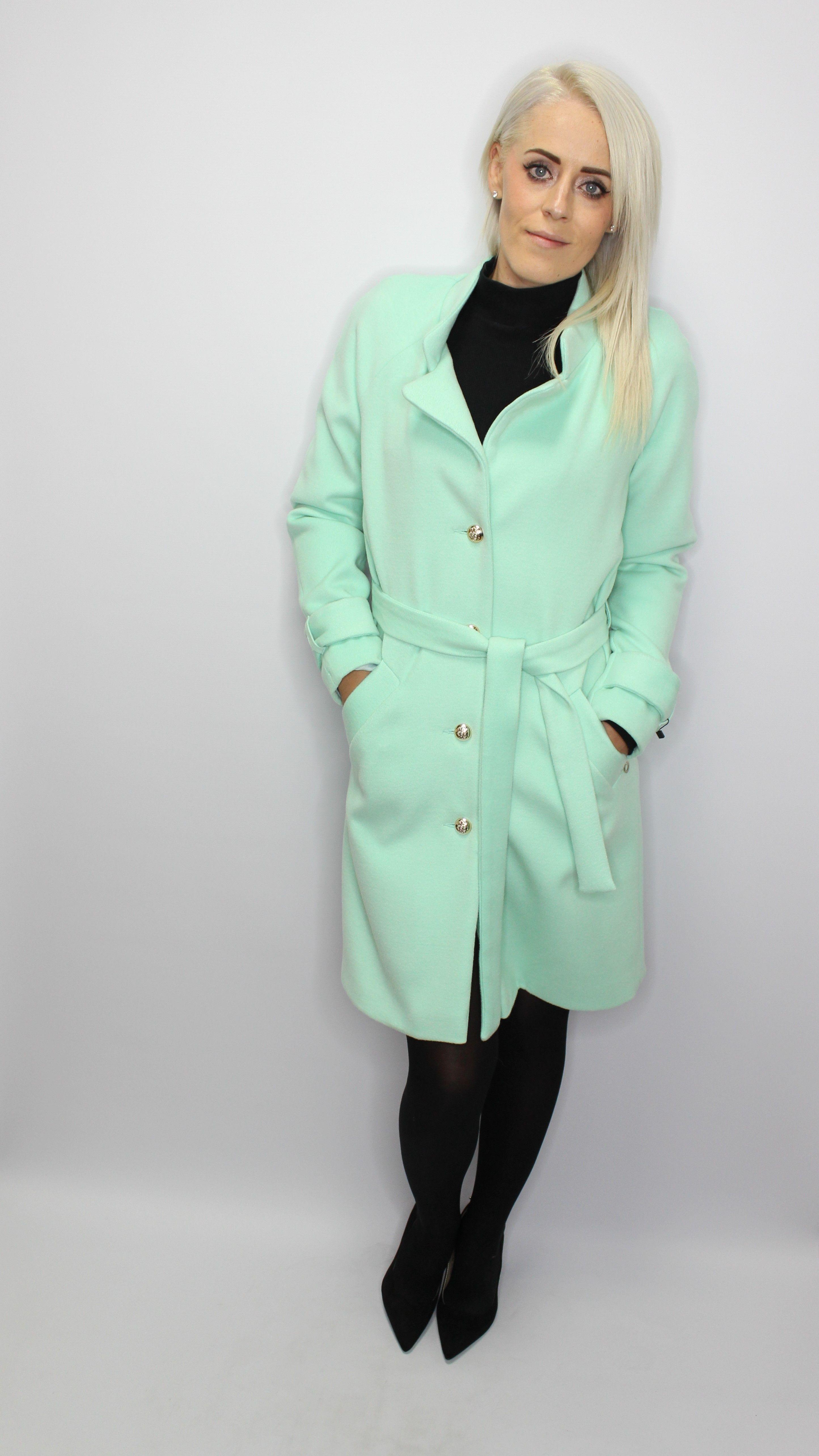 Mint Green Elegant  Coat