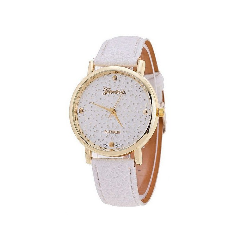 Elegant White Lace Face Watch