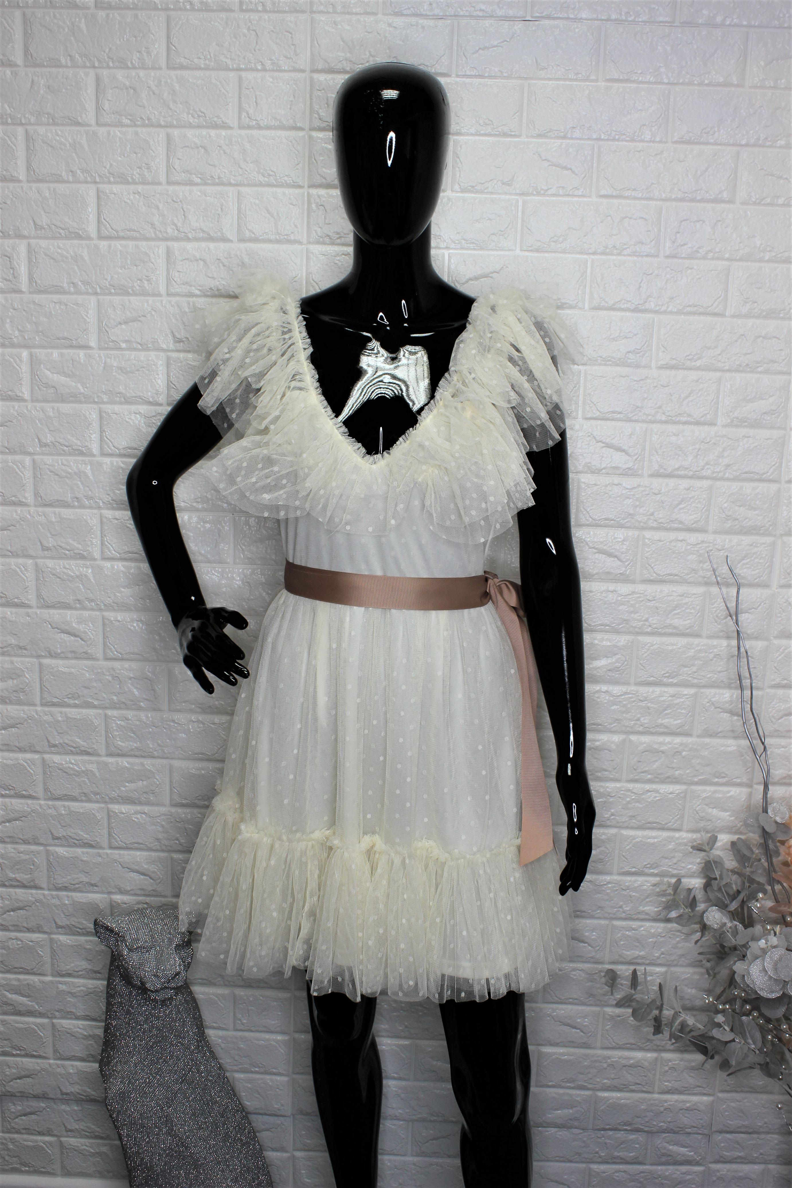 Ivory Lace Mini Dress