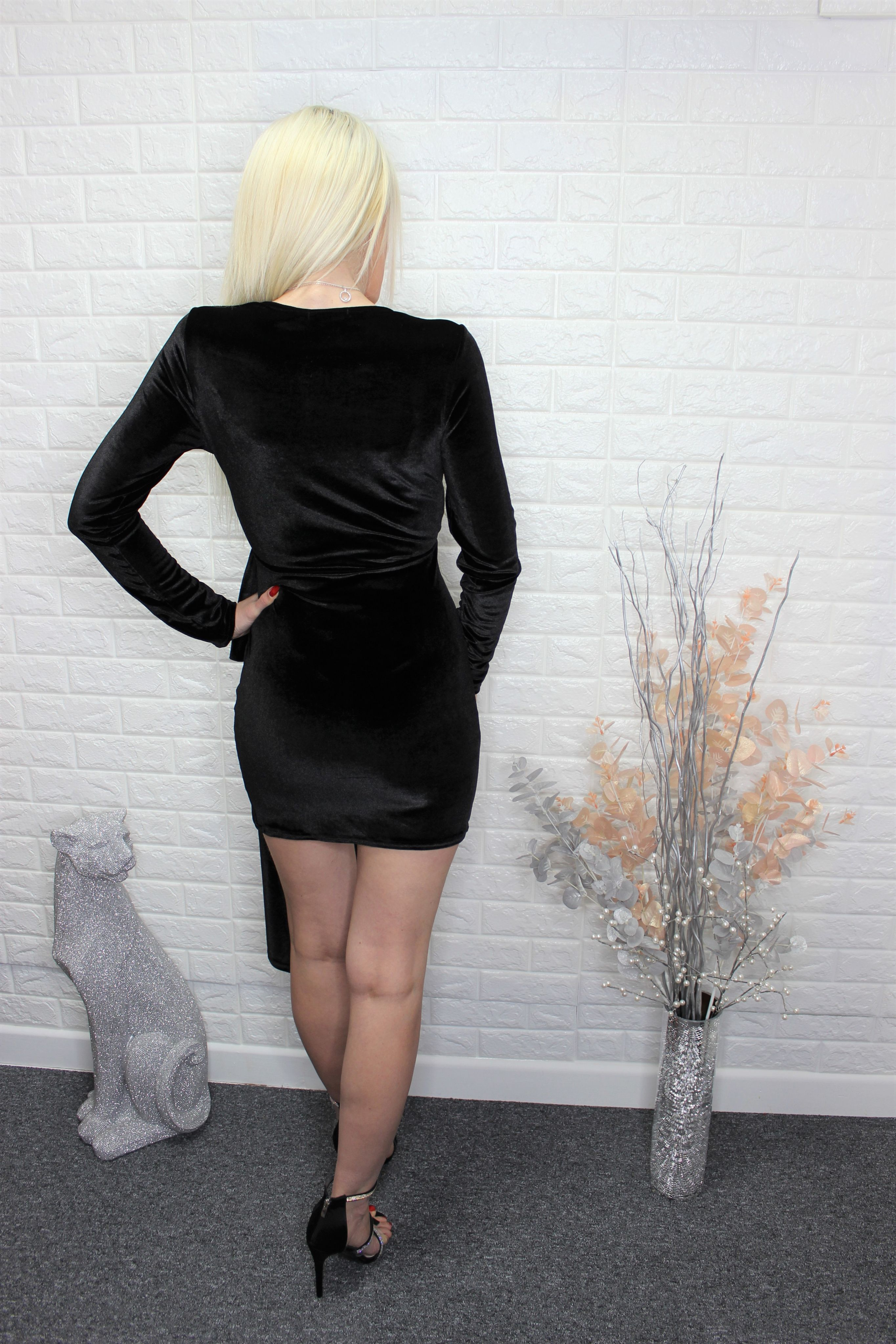 Black Velvet Mini Dress