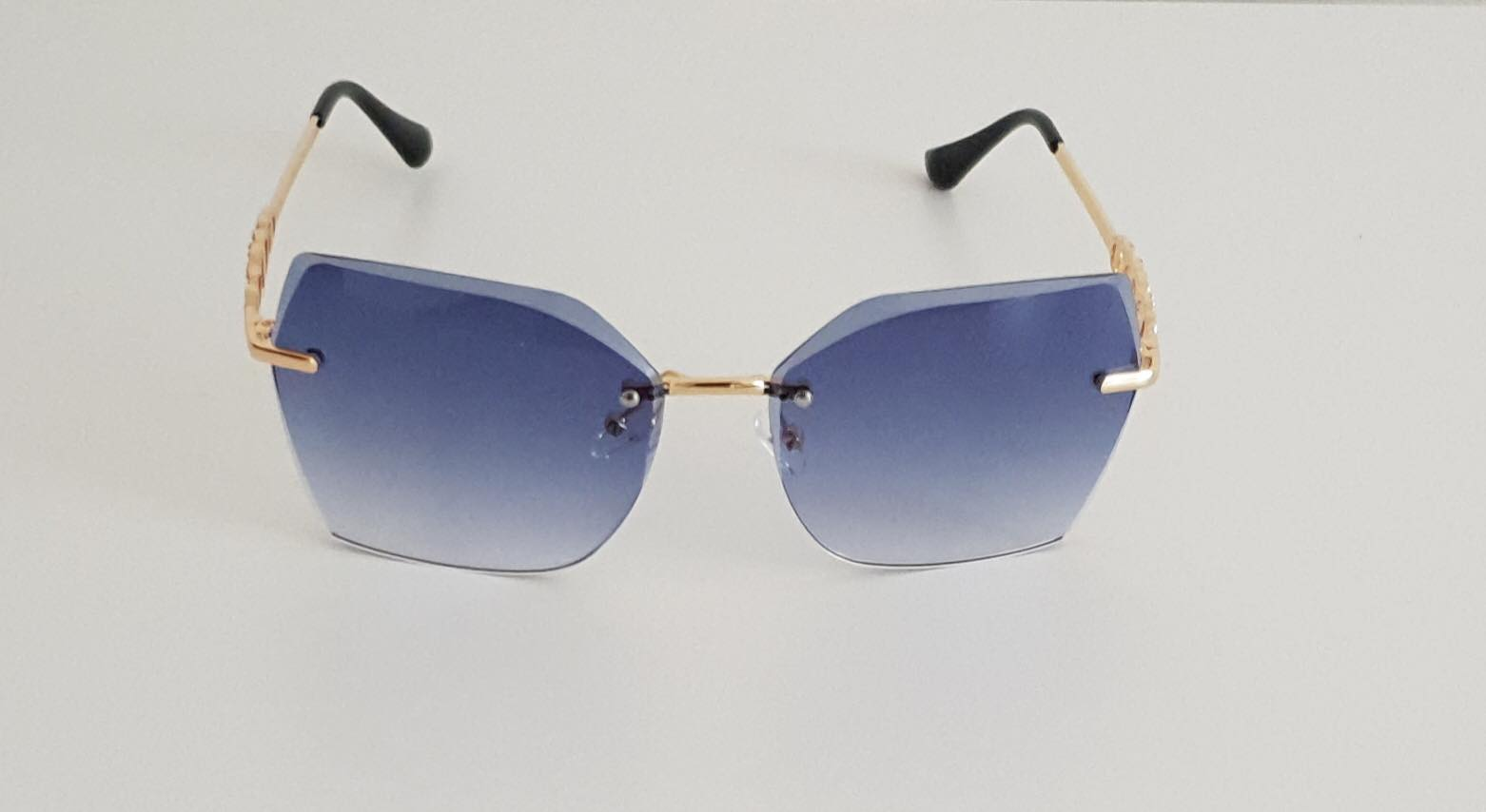 Blue Square Oversized Sunglasses