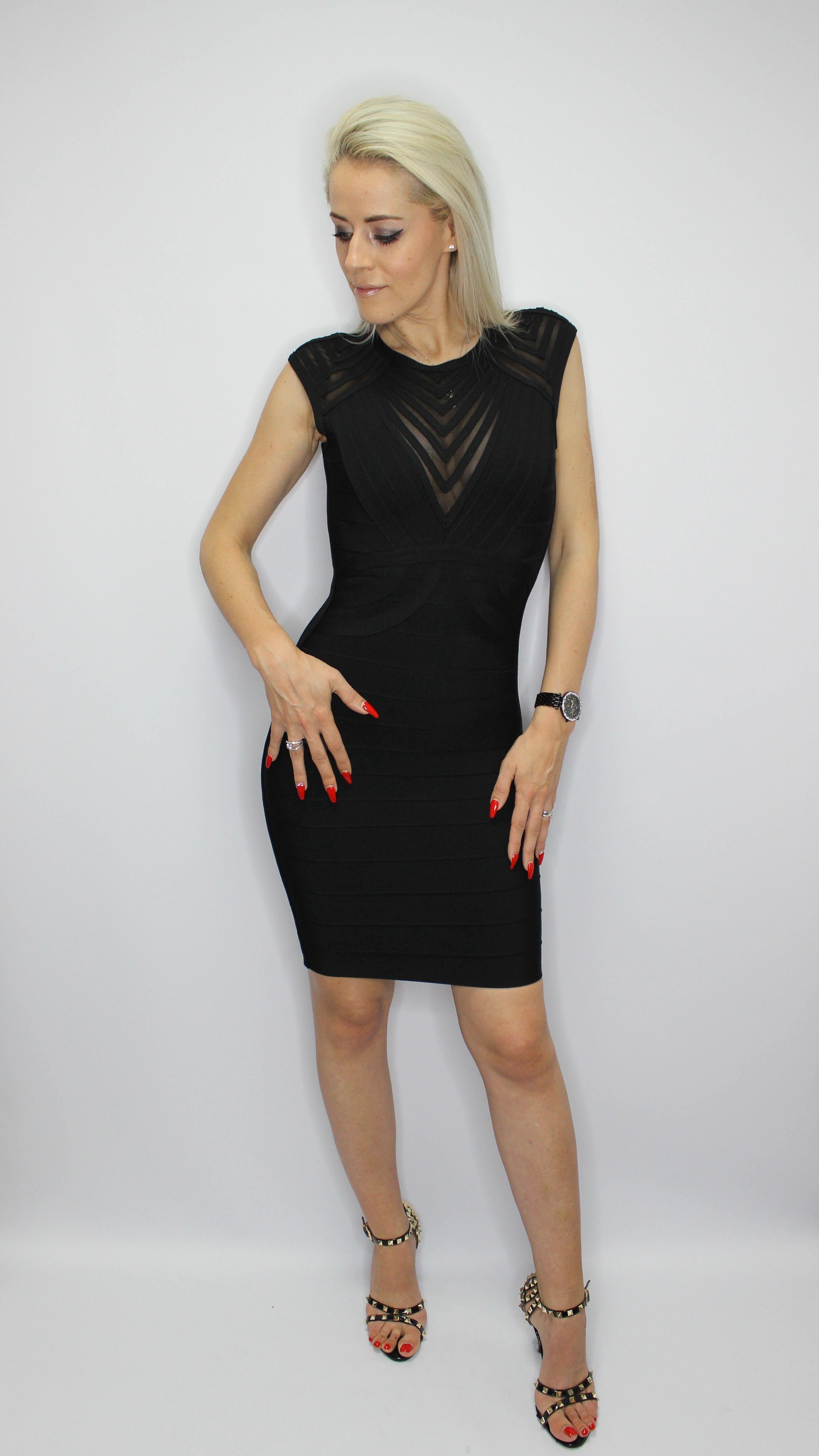 Elegant Black Bandage Dress