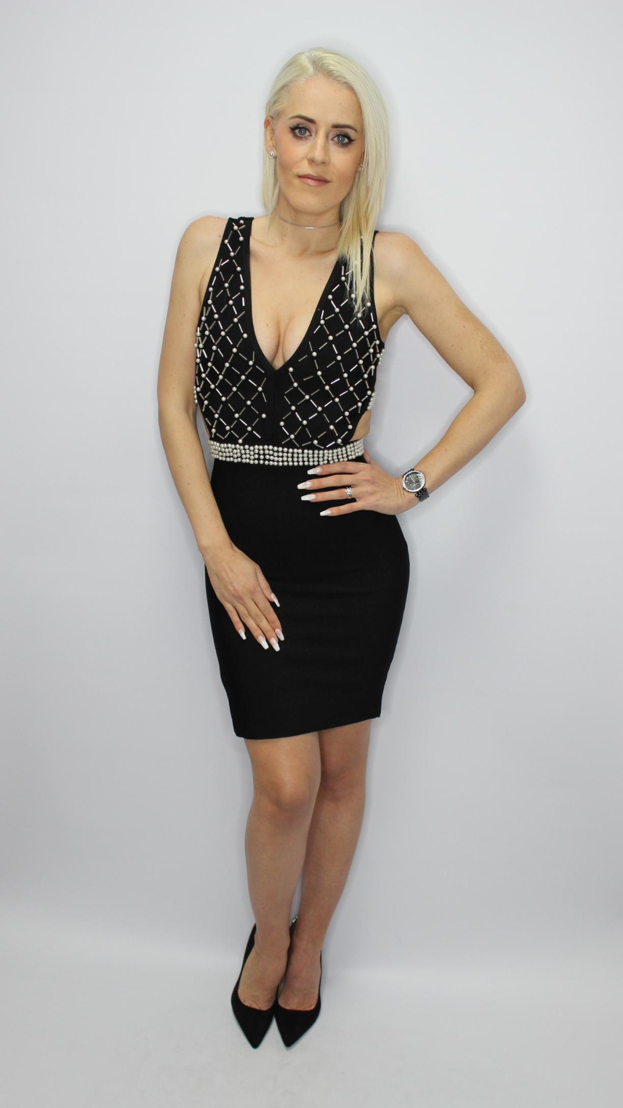 Black Mini Bandage Dress