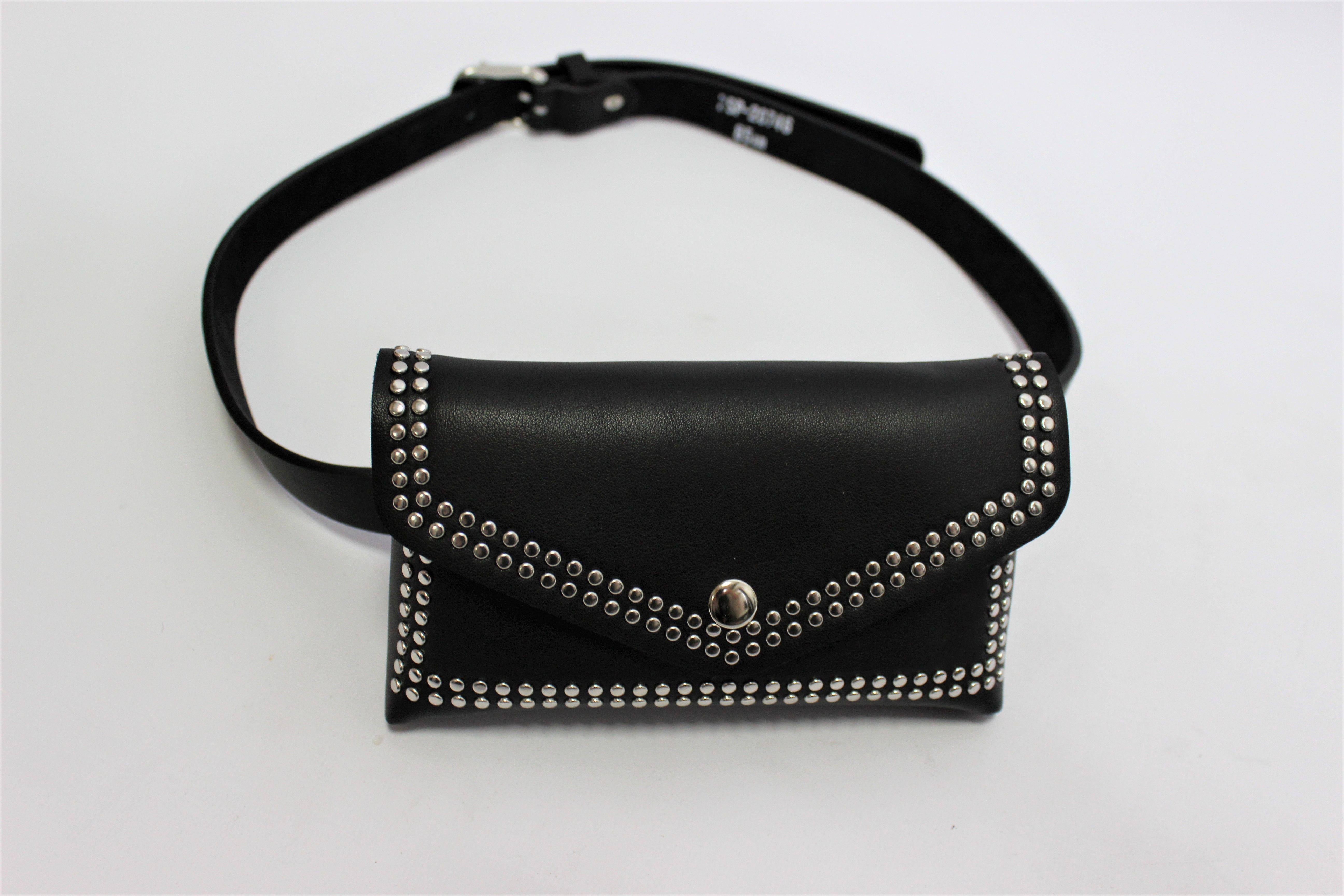 Black Belted Bum Bag