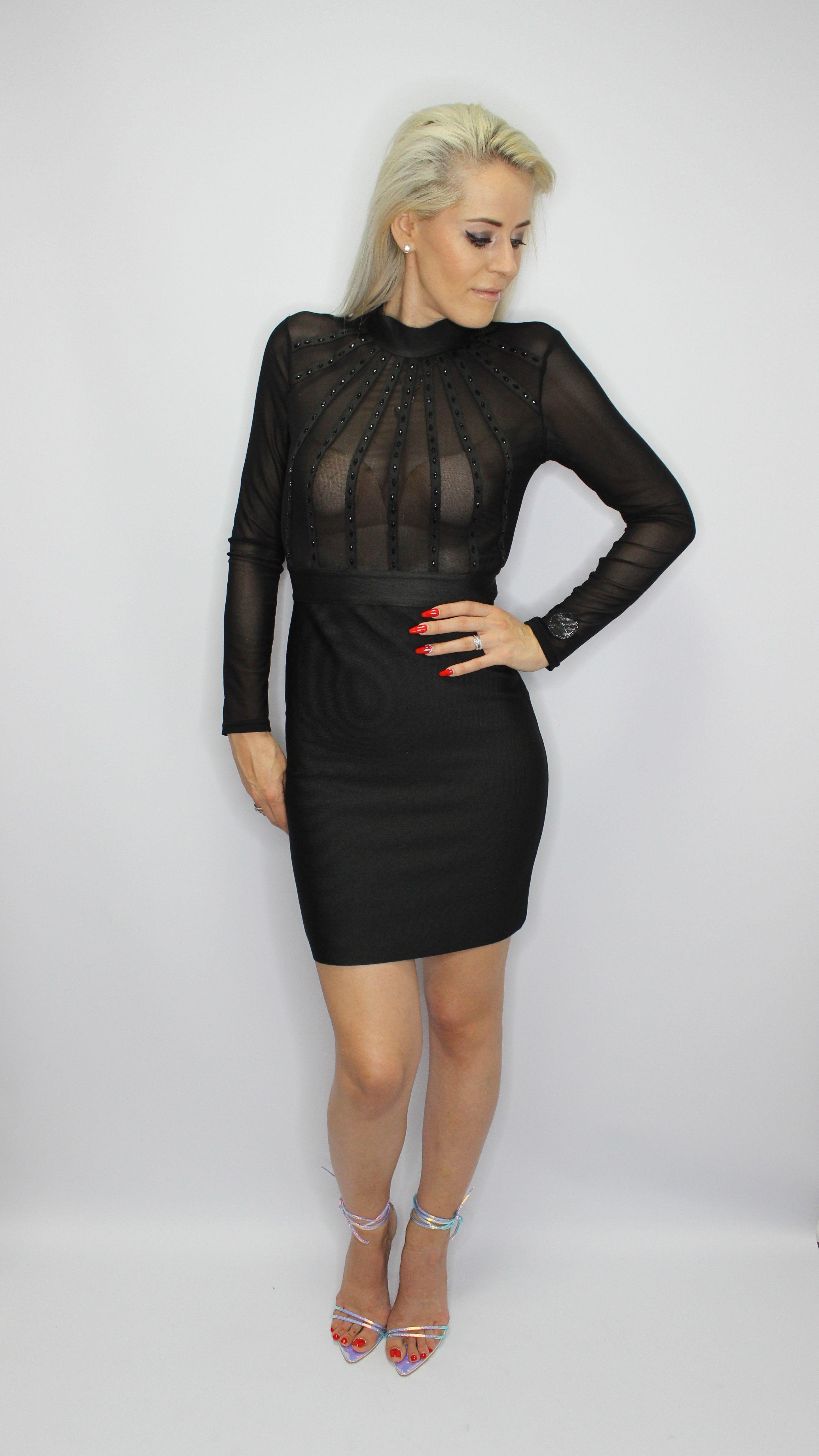 Luxurious Black Bandage Dress