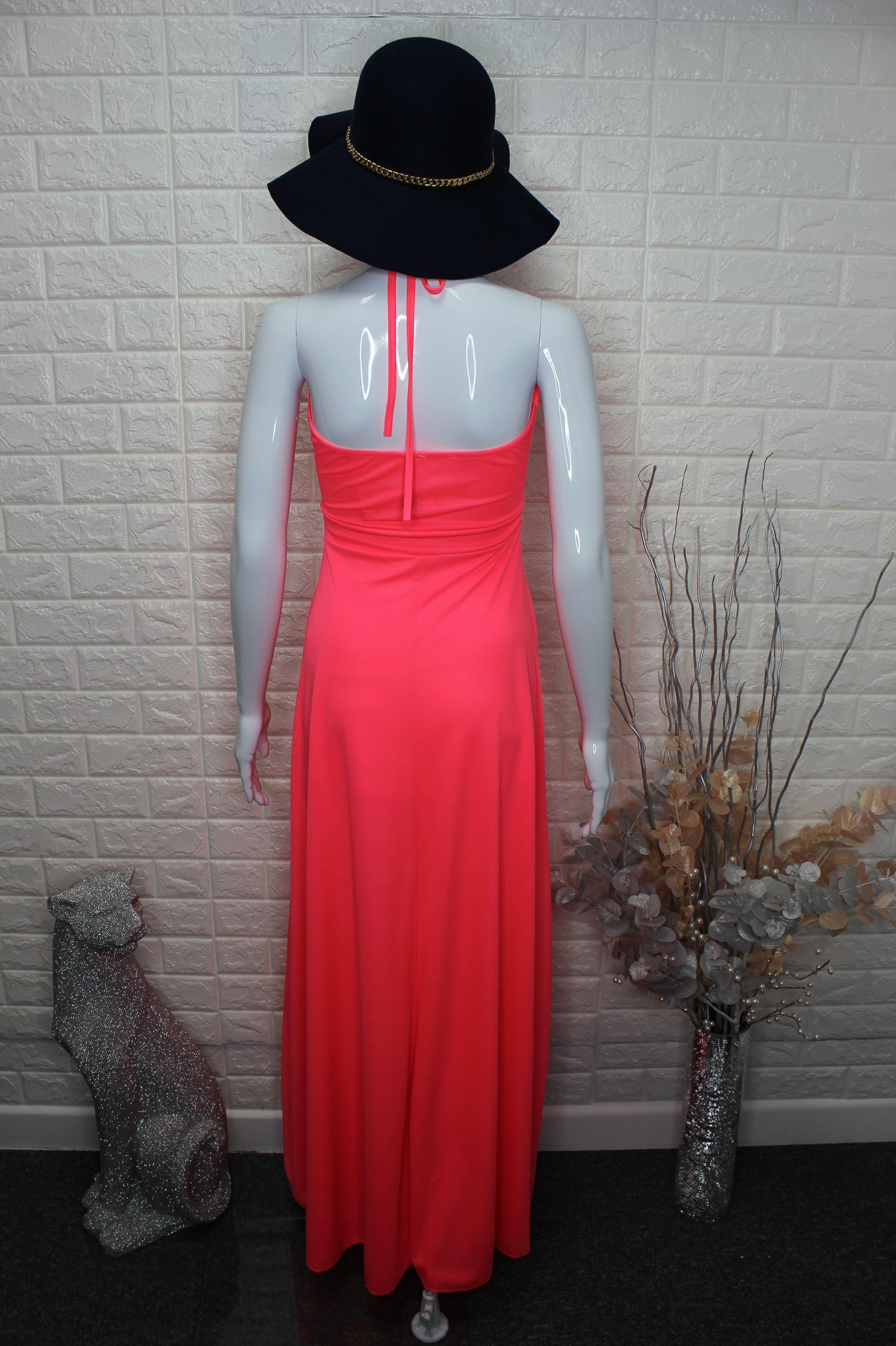 Neon Pink Maxi Dress