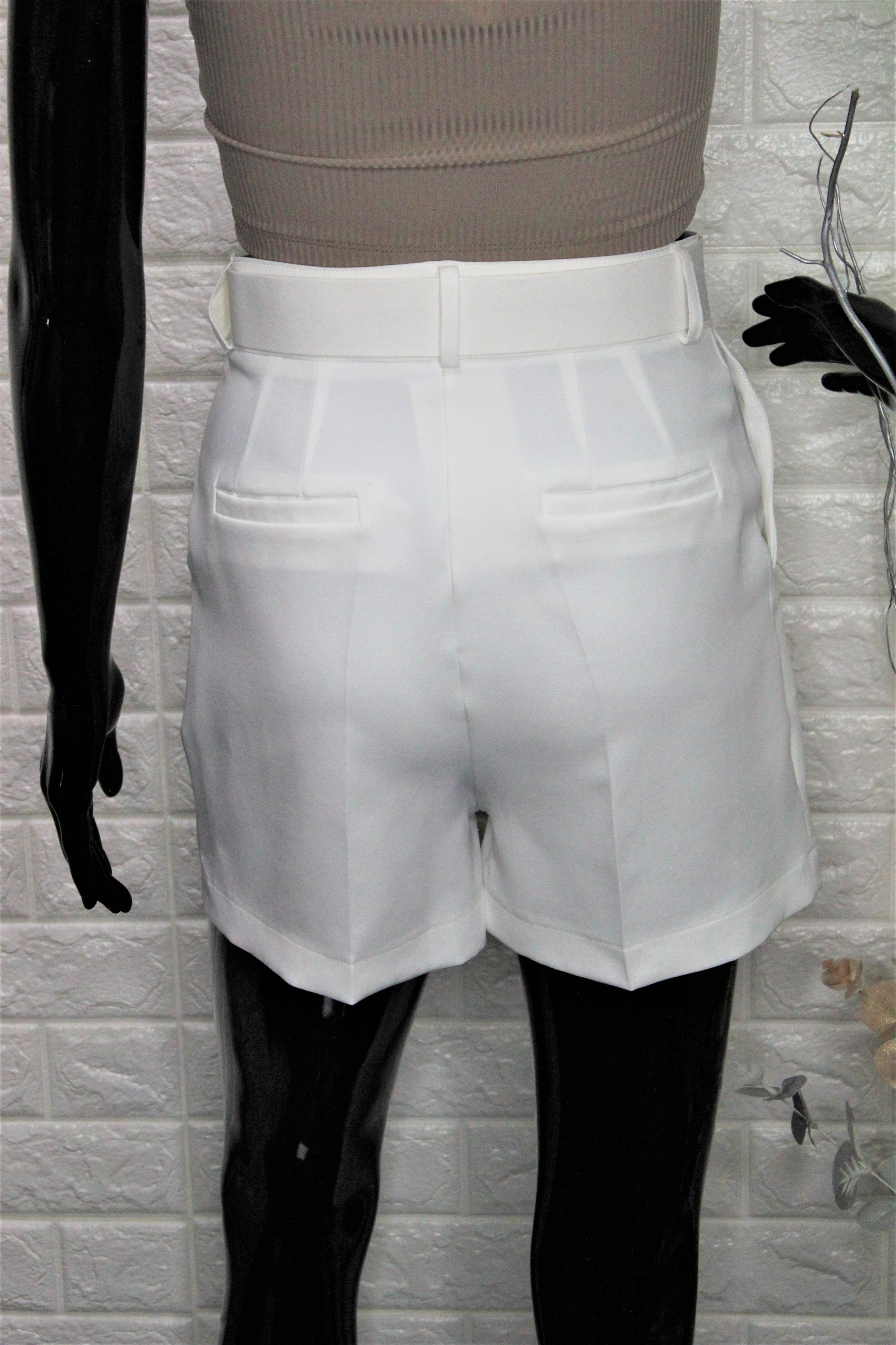 White Elegant Shorts