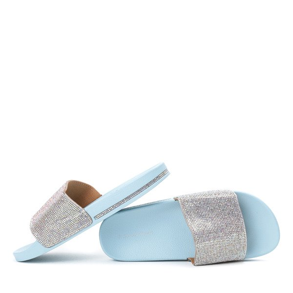 Baby Blue Diamante Sliders