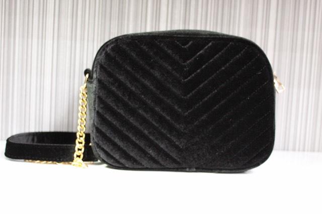 Black Velour Handbag