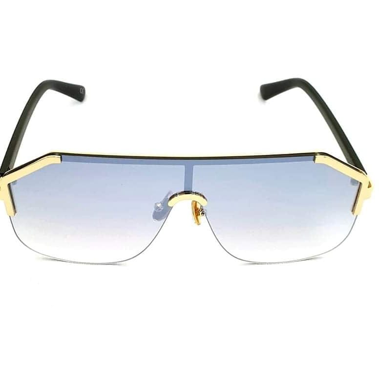 Flat Top Blue Sunglasses