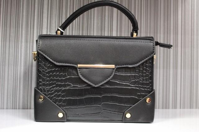 Black Fox Croc Cross Body Bag