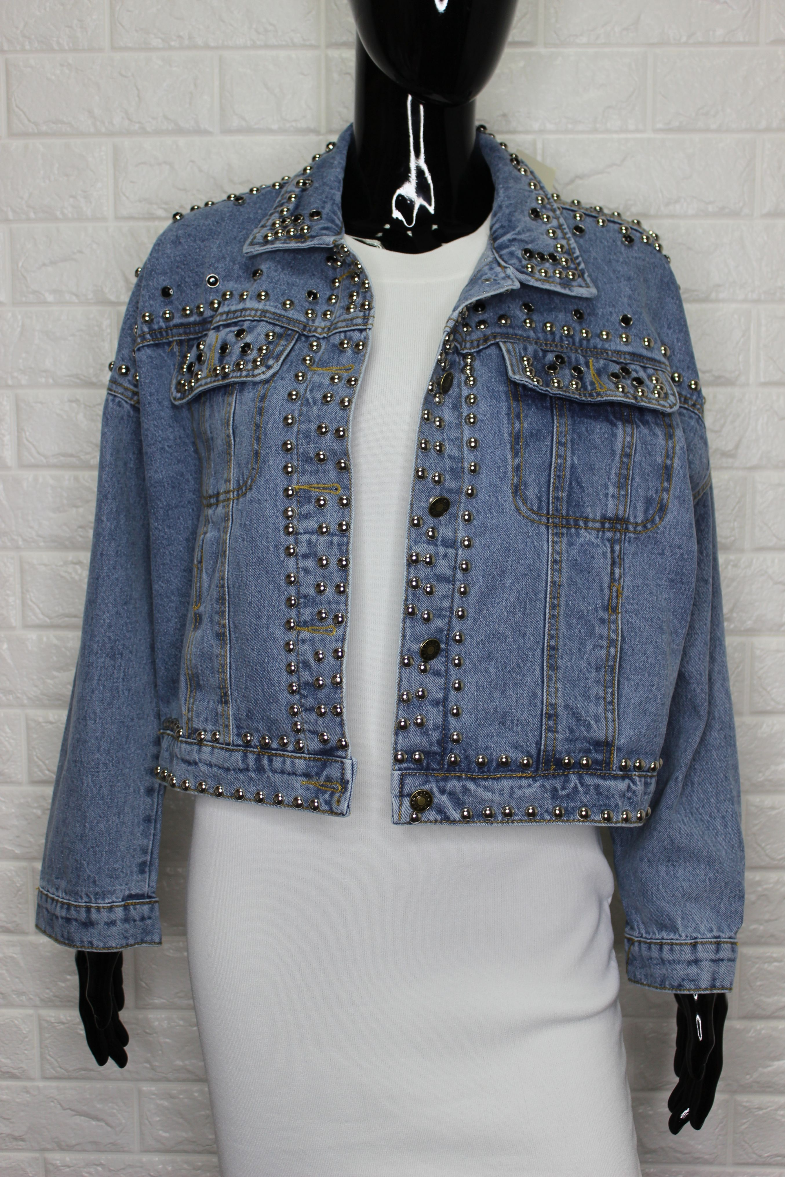 Unique Cropped Denim Jacket