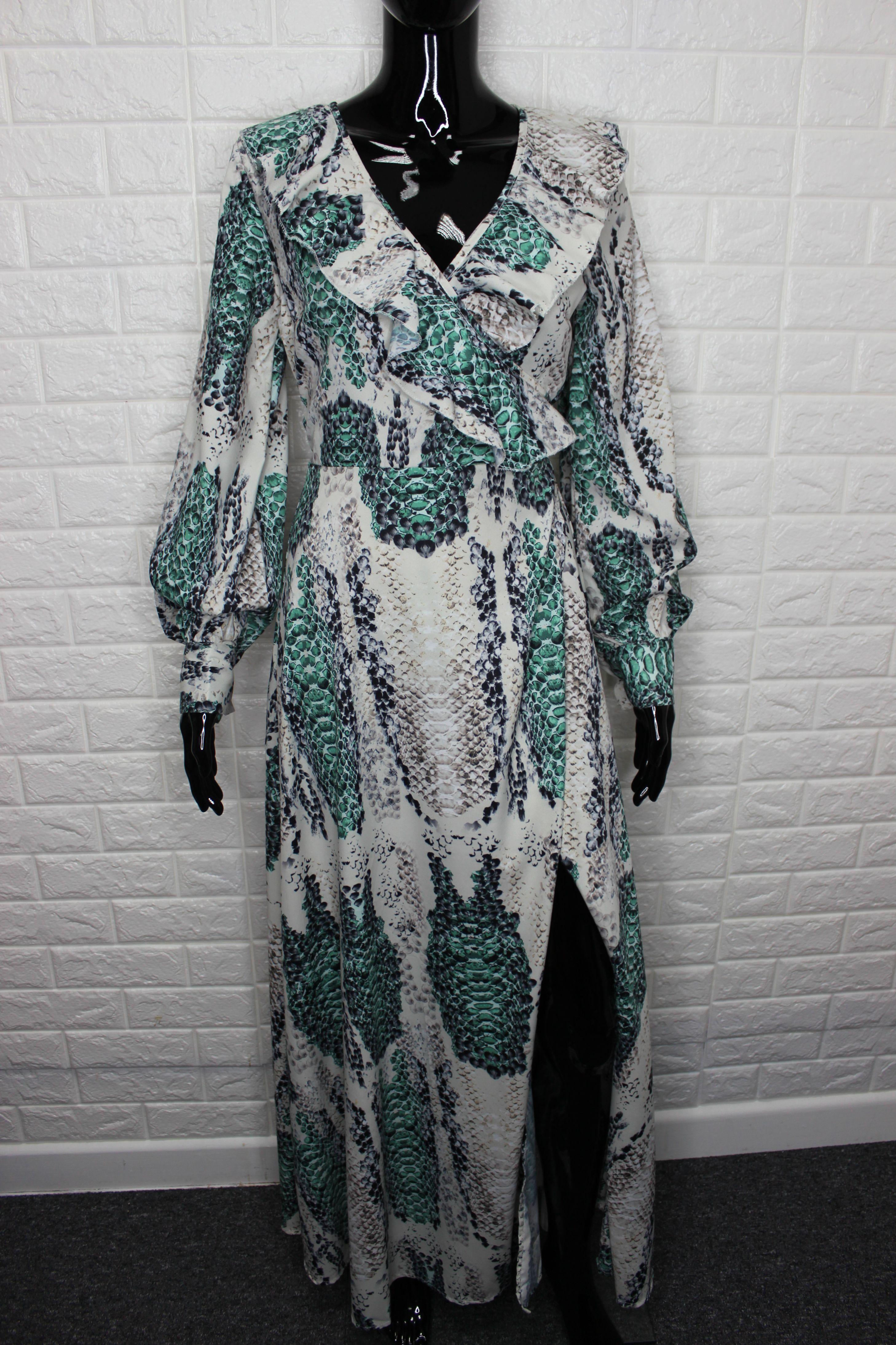 Stunning Snake Print Maxi Dress