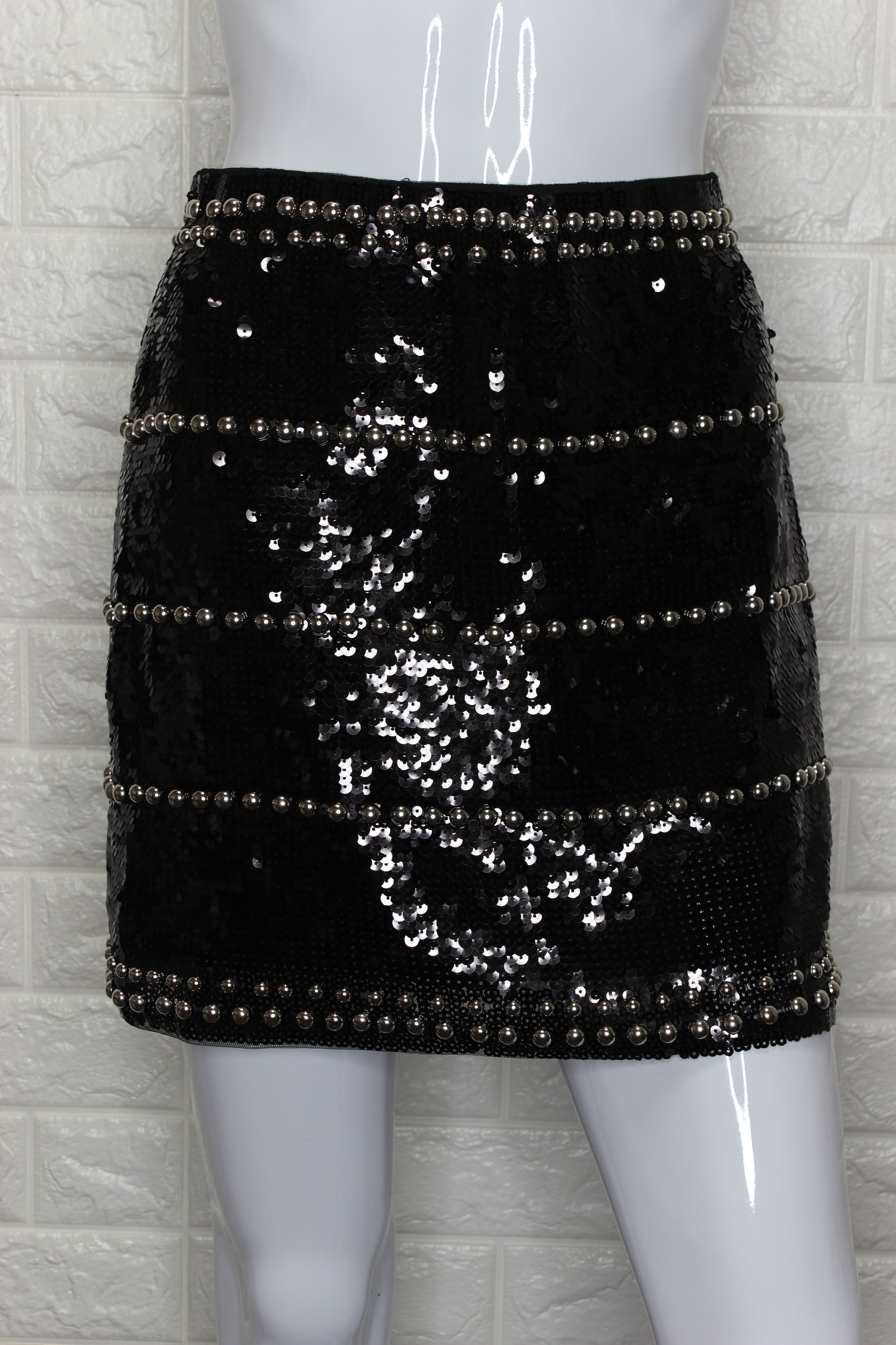 Black Sequin Skirt