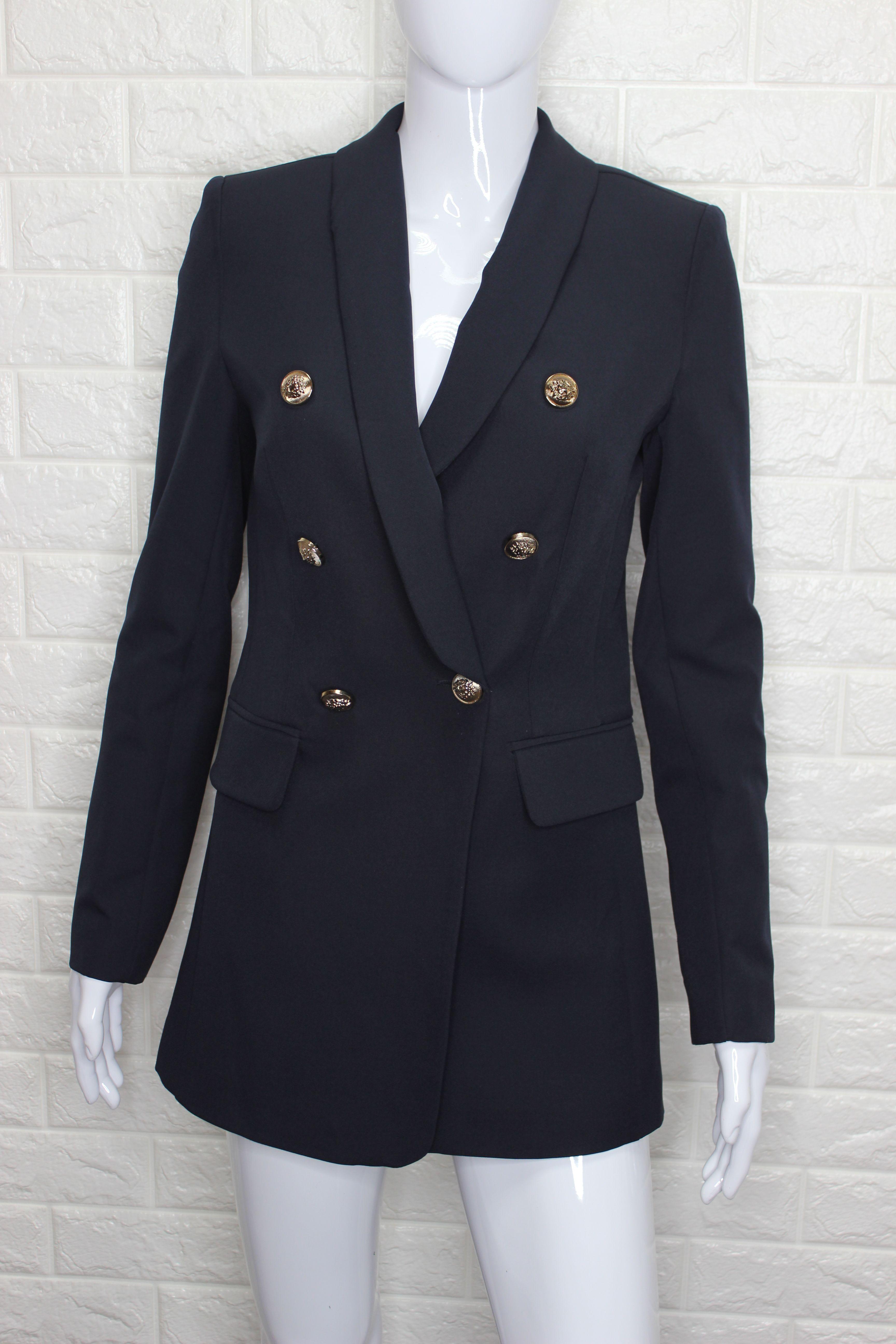 Navy Balmain Style Blazer