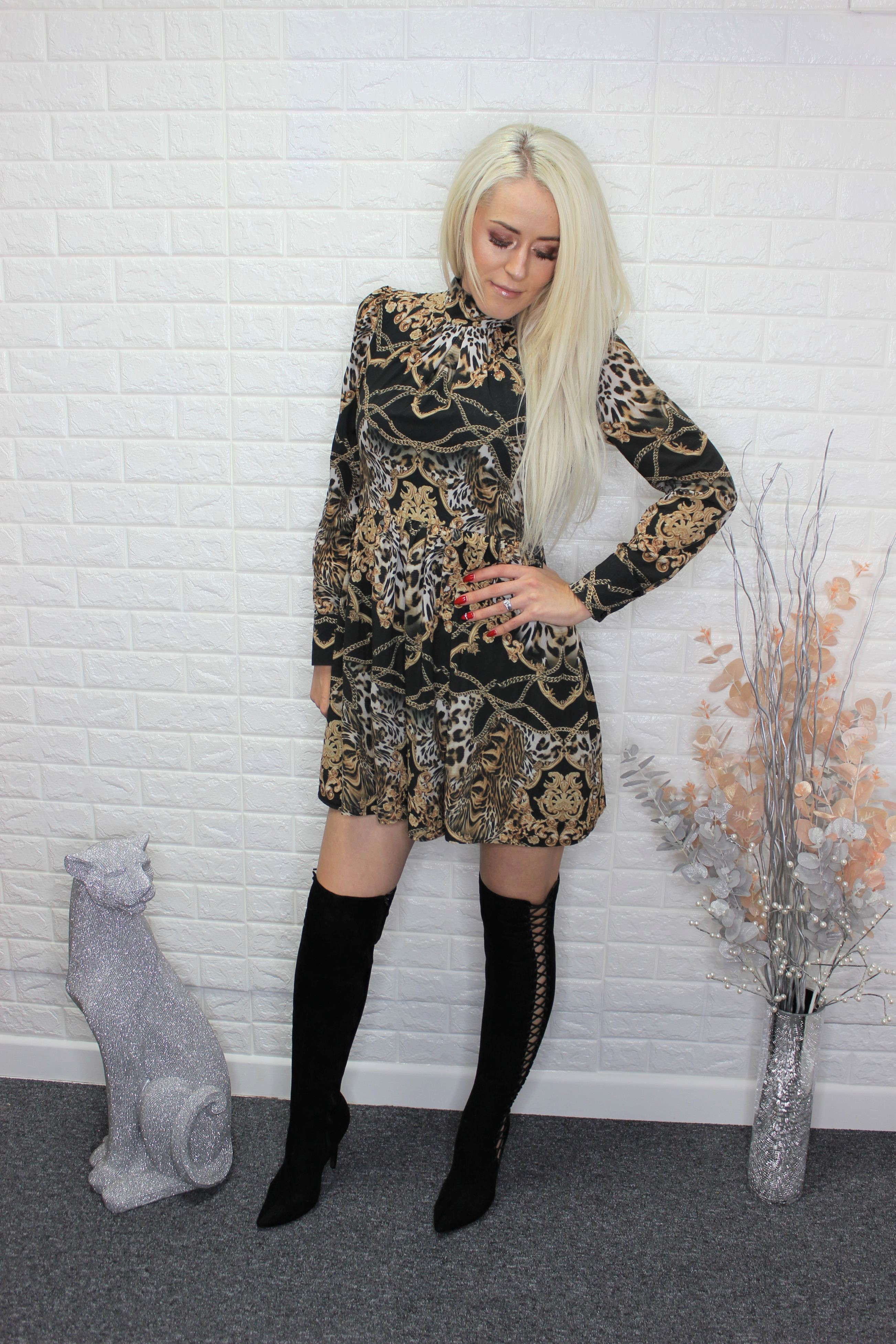 Silky Style Mini Dress