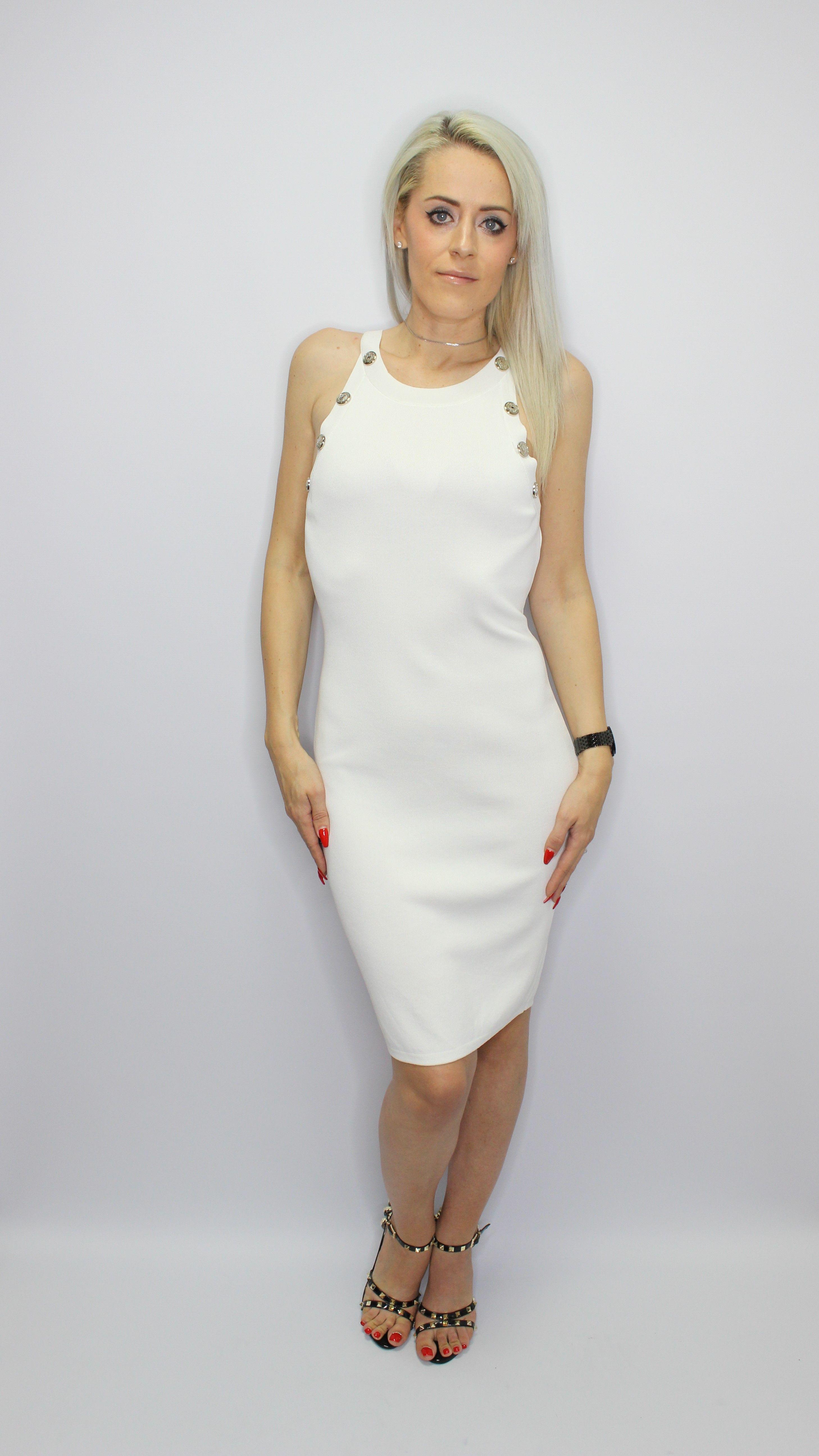 White Pencil Dress
