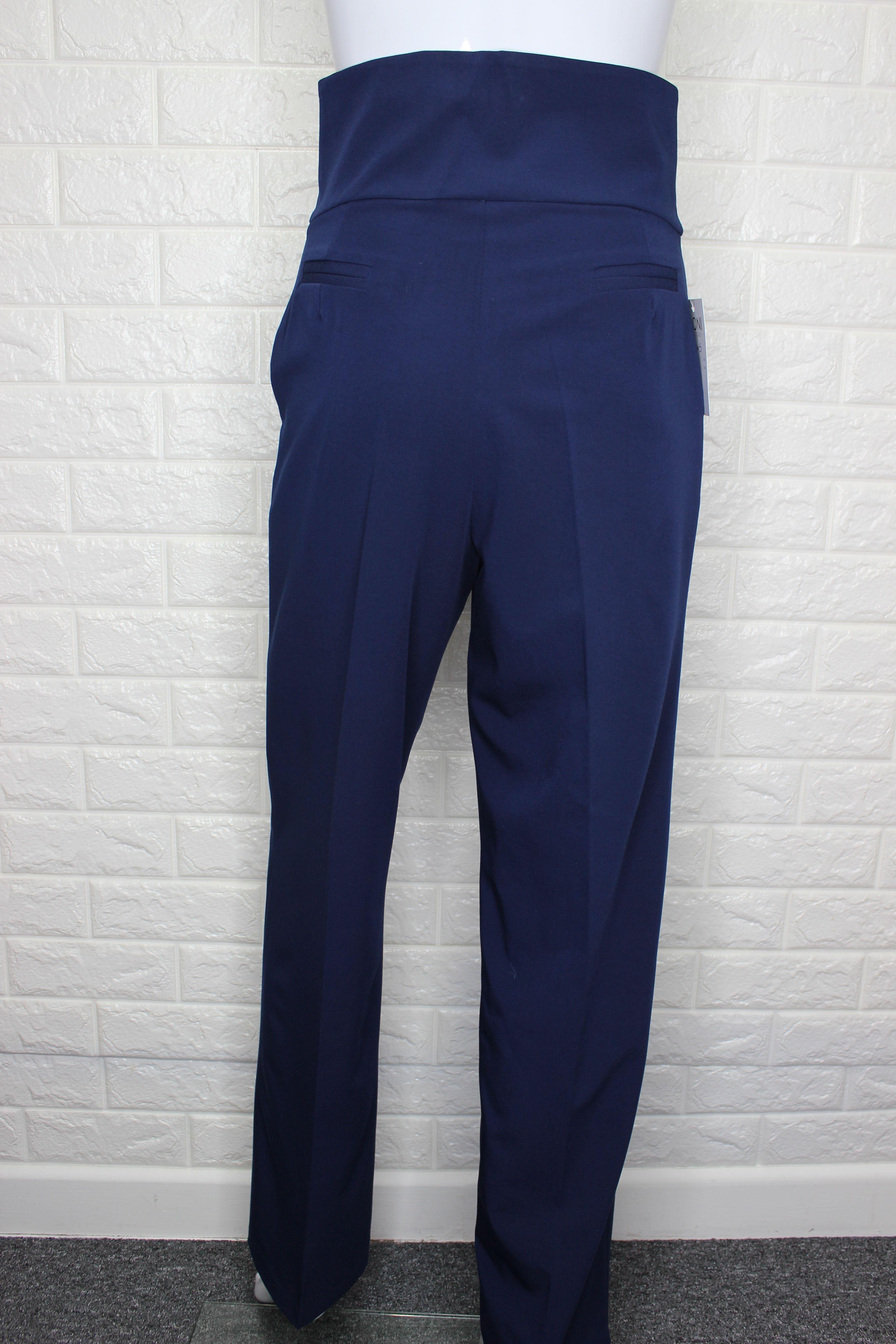 Navy Blue High Waist Trousers