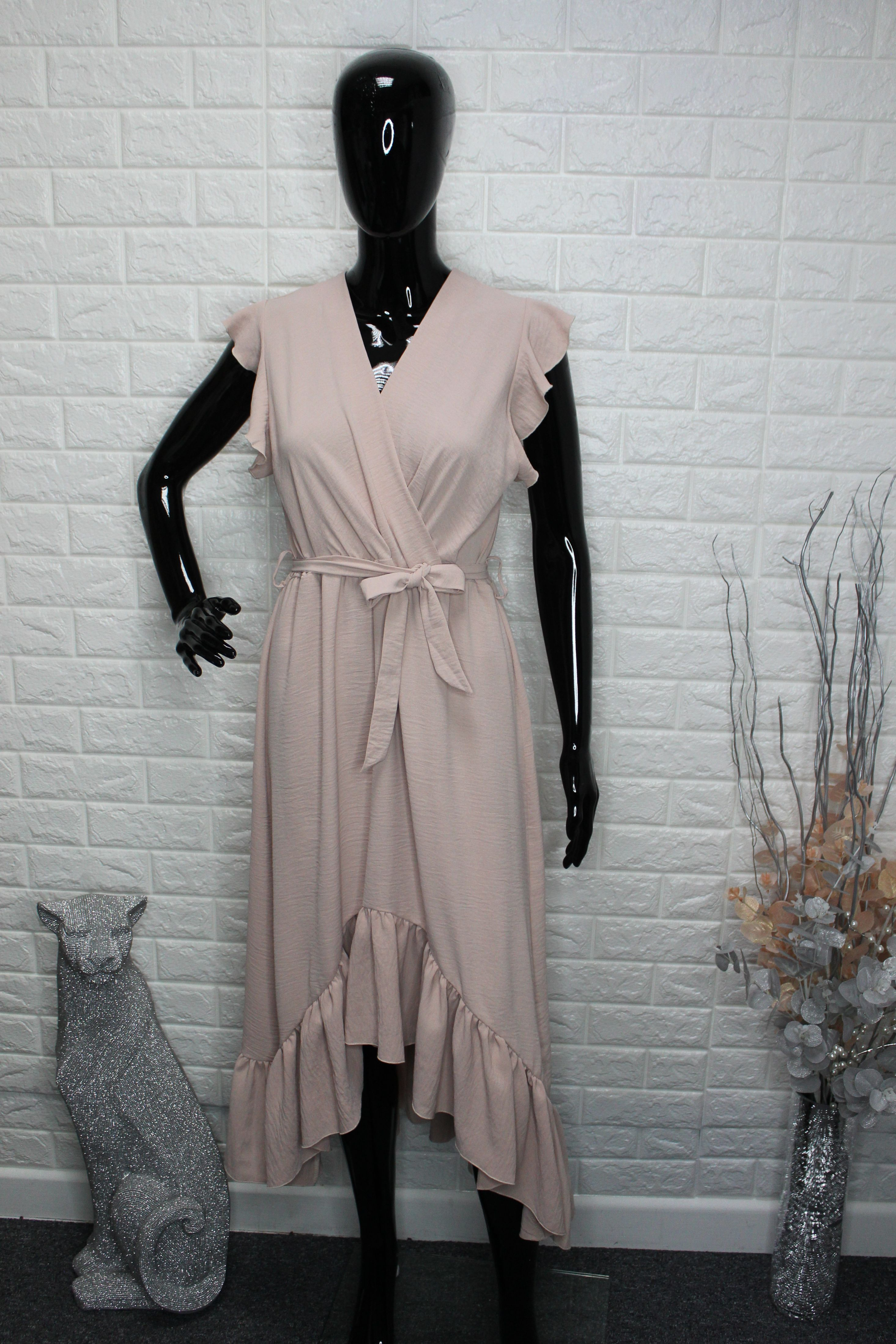 Light Nude Midi Dress