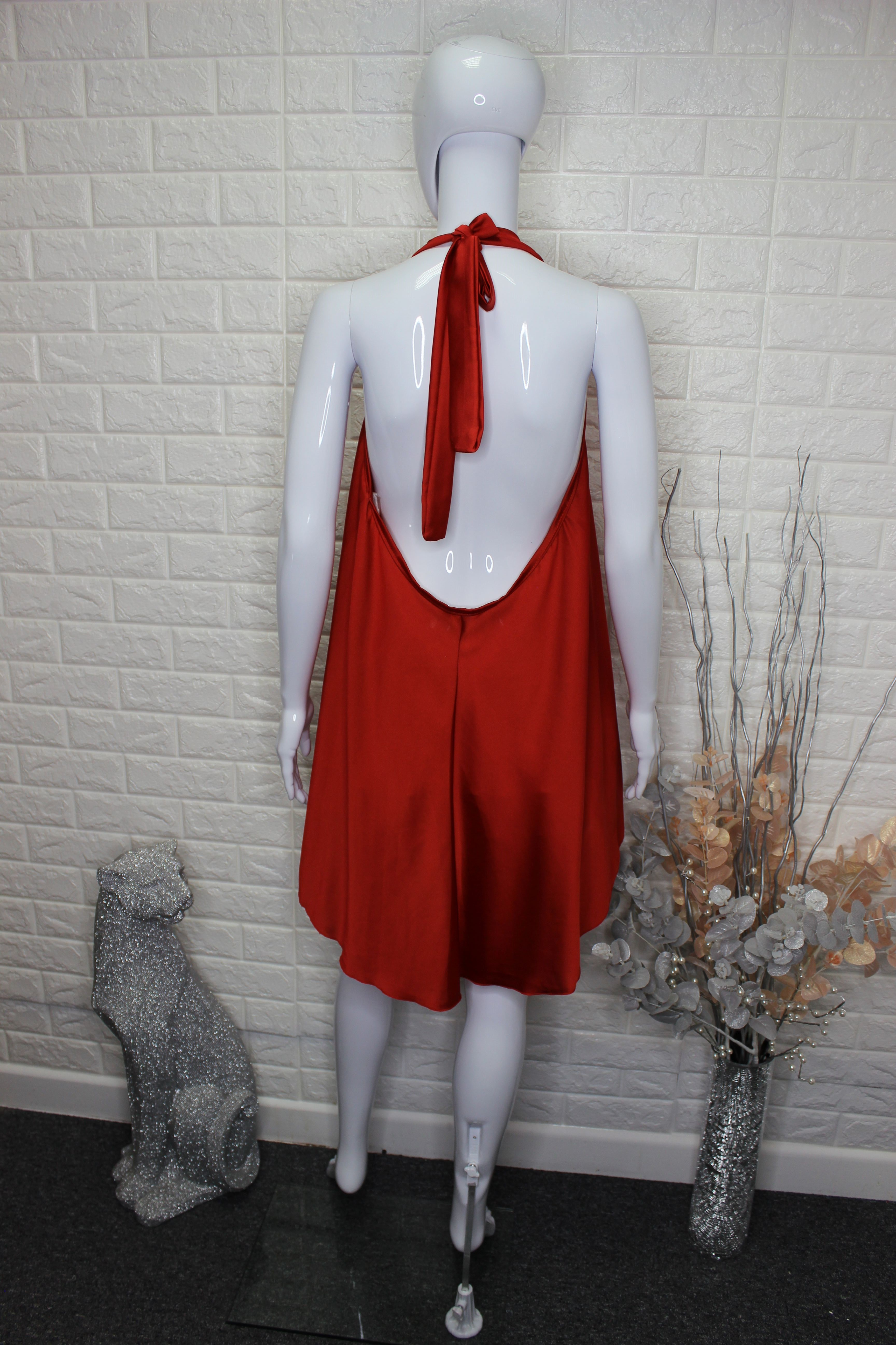 Red Top With Open Back