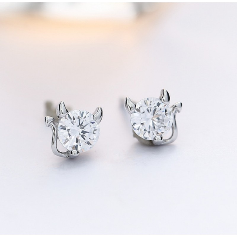 Silver Devil Earrings