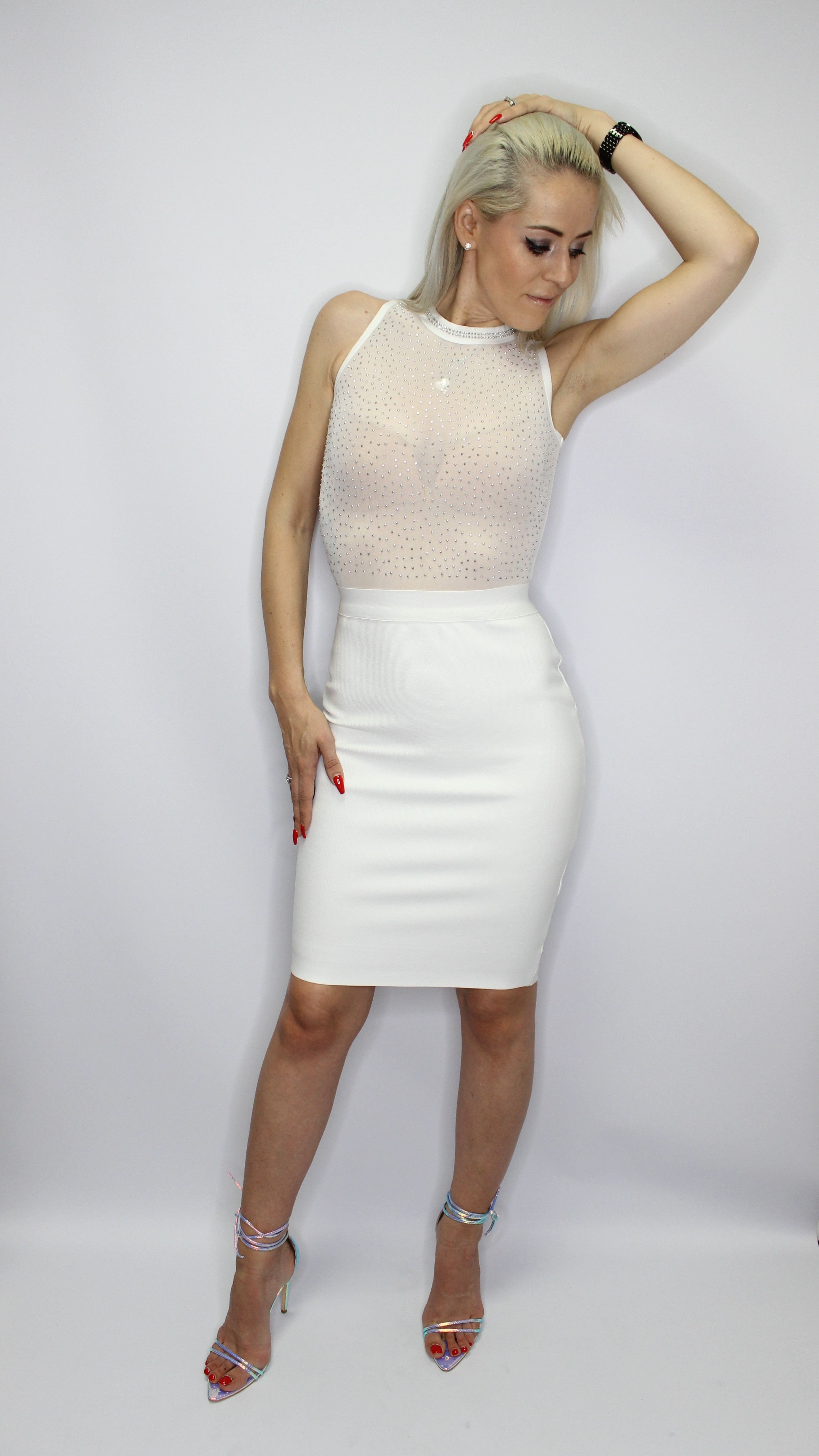 Beautiful White Bandage Dress