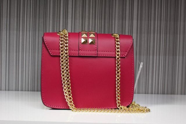 Pink Italian Leather Handbag