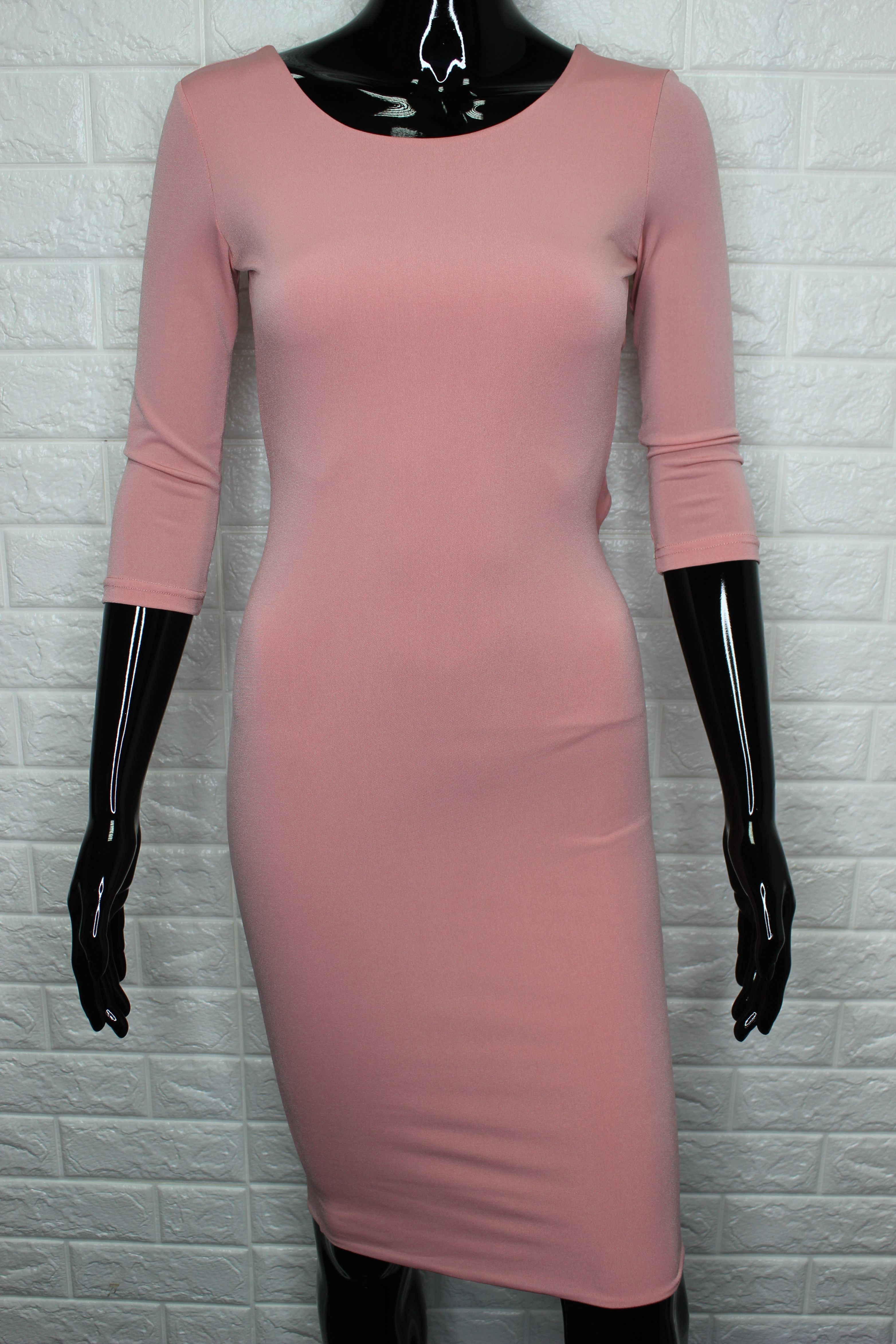 Pencil Dress With Open Back