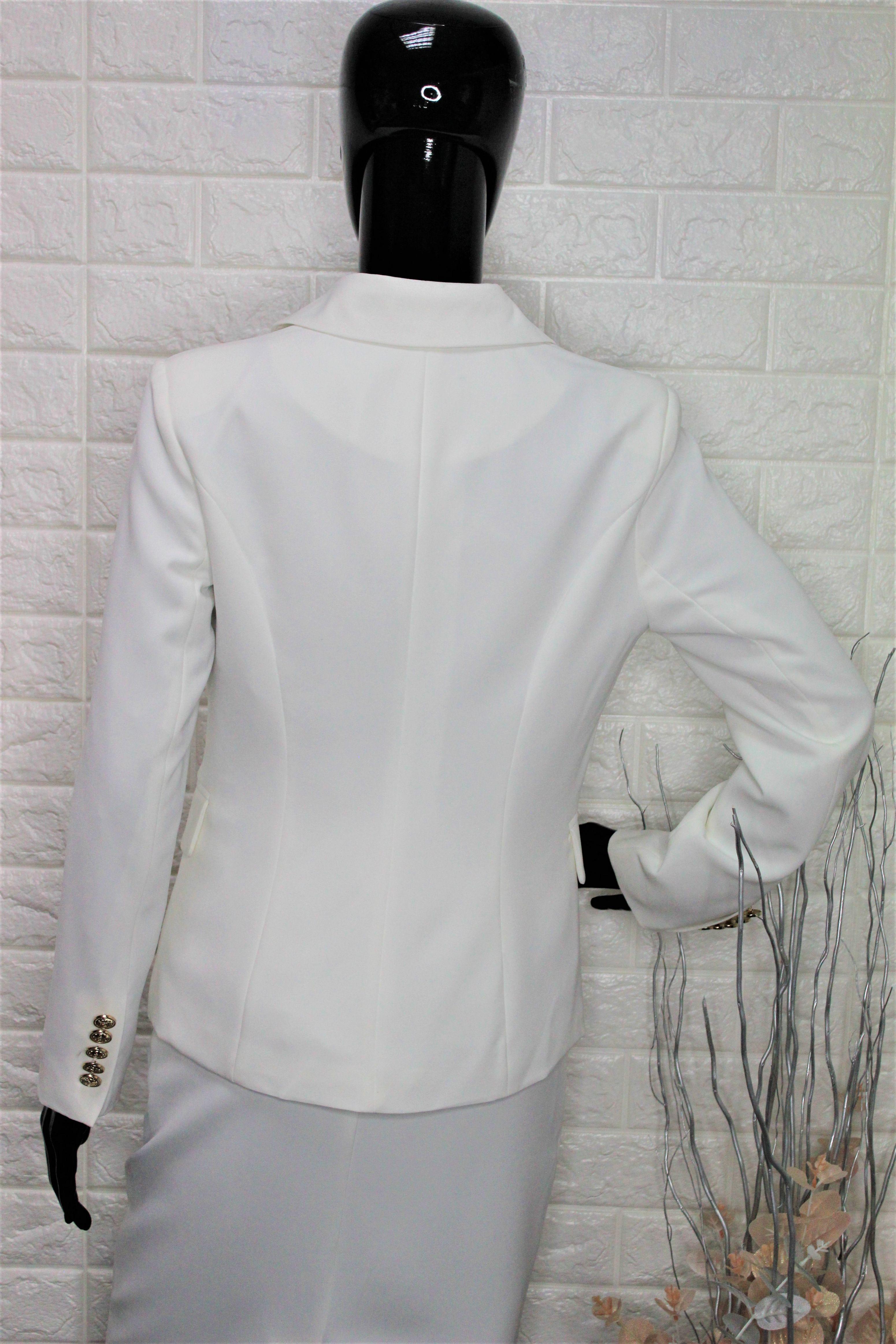 Ivory Balmain Style Blazer