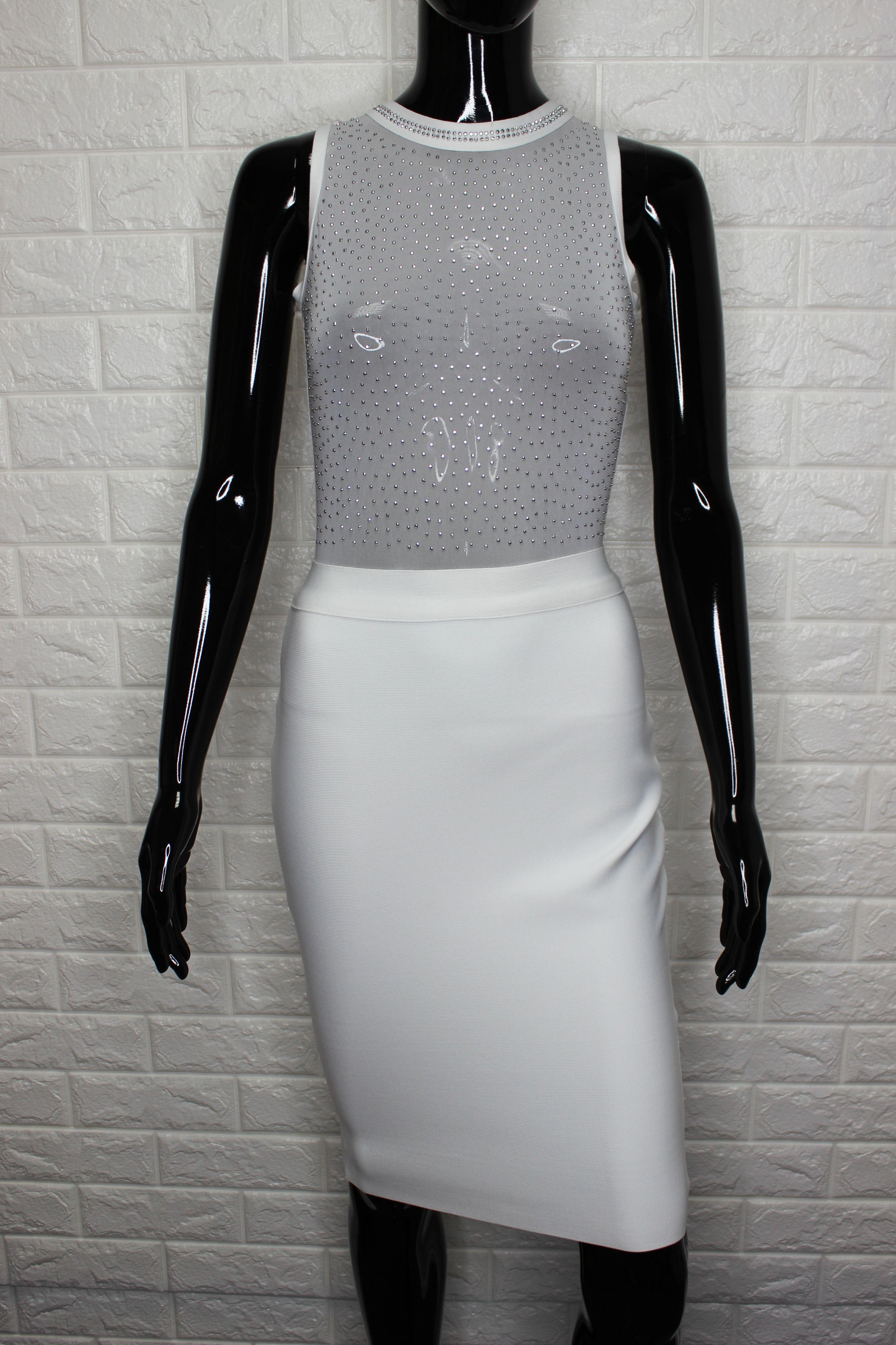 Beautiful White Bandage Dress